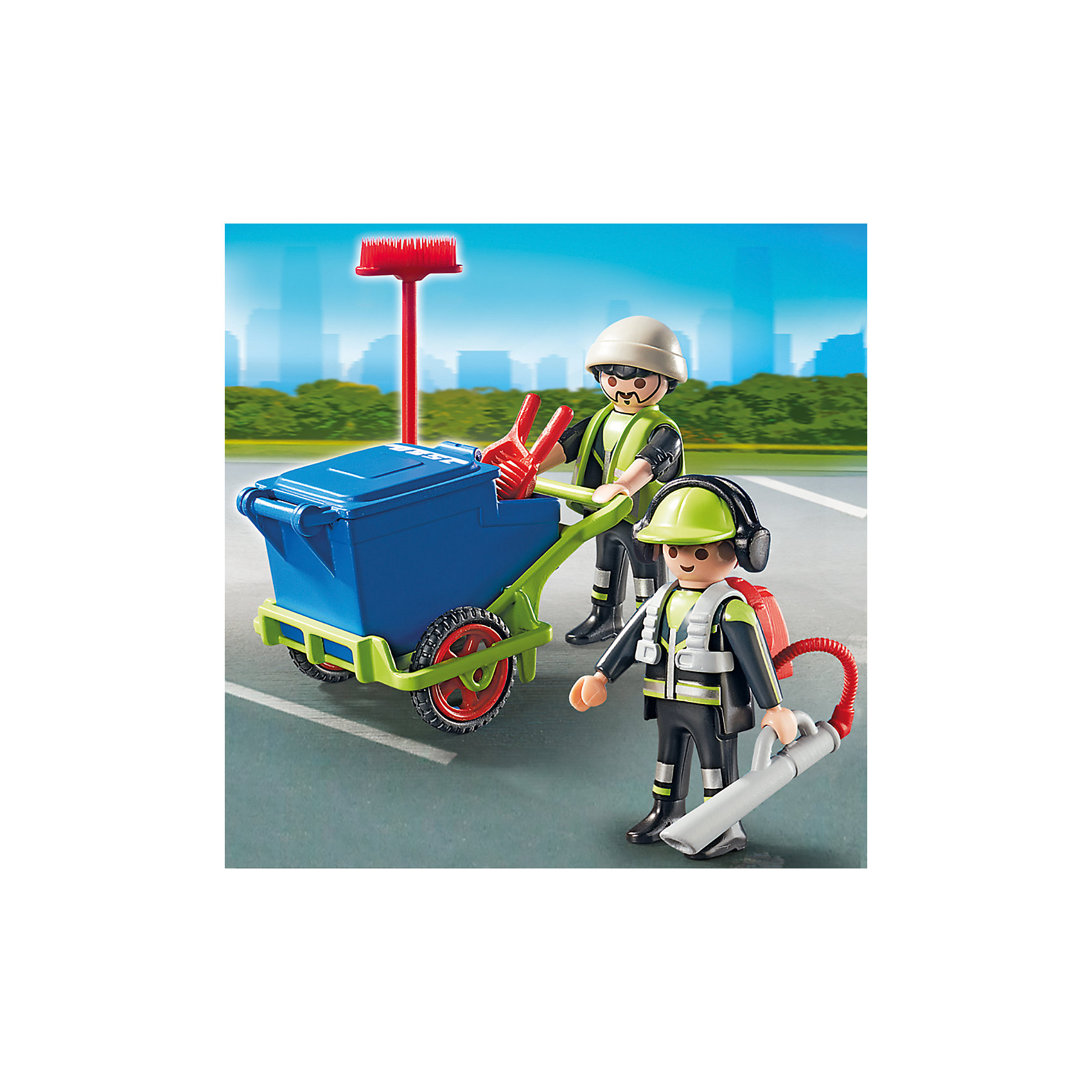 Городские службы: Команда по уборке улиц города, PLAYMOBIL<br><br>Ширина мм: 144<br>Глубина мм: 141<br>Высота мм: 46<br>Вес г: 100<br>Возраст от месяцев: 48<br>Возраст до месяцев: 120<br>Пол: Мужской<br>Возраст: Детский<br>SKU: 3786350