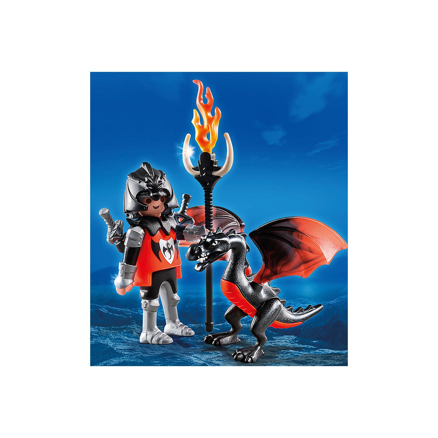 PLAYMOBIL® Экстра-набор: Рыцарь с Драконом, PLAYMOBIL playmobil спасатели с носилками