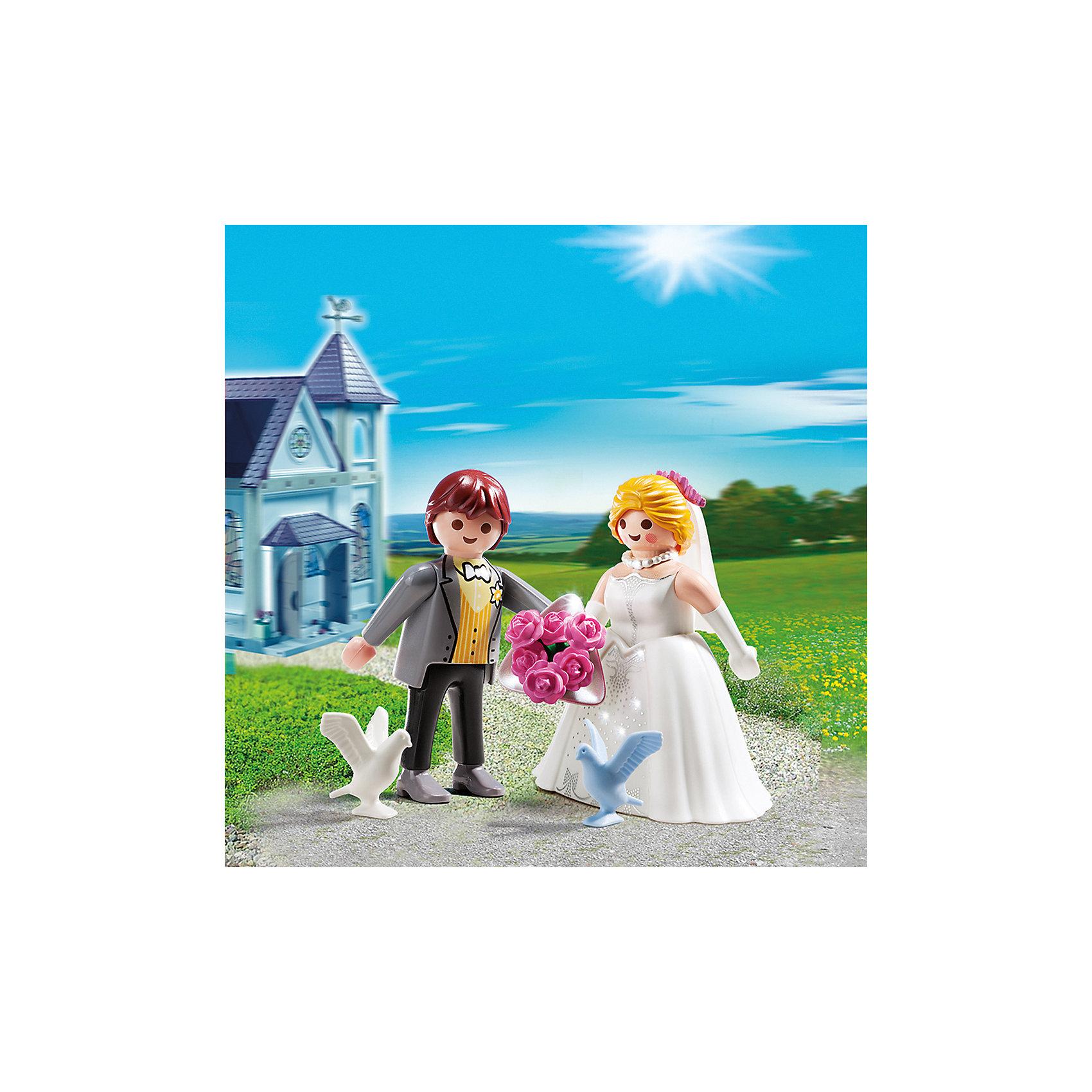 PLAYMOBIL® ДУО: Молодожены, PLAYMOBIL фигурки игрушки playmobil зоопарк стая фламинго