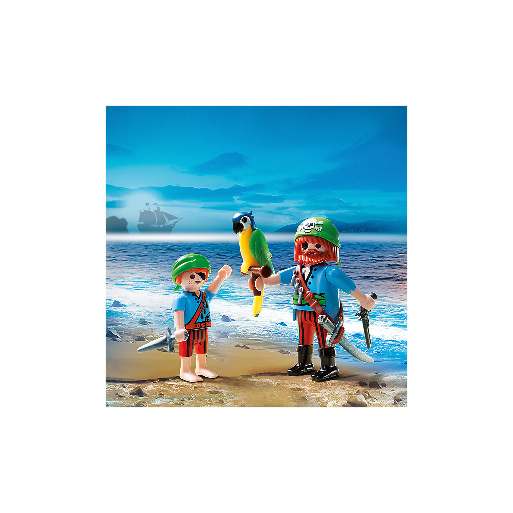 PLAYMOBIL® ДУО: Пираты отец с сыном, PLAYMOBIL фигурки игрушки playmobil зоопарк стая фламинго