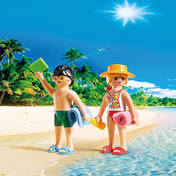 ДУО: Посетители пляжа, PLAYMOBILПластмассовые конструкторы<br>ДУО: Посетители пляжа, PLAYMOBIL (Плэймобил)<br><br>Характеристики:<br><br>• подходит для интересного сюжета о летних приключениях <br>• изготовлены из прочных материалов<br>• в комплекте: 2 фигурки, аксессуары<br>• материал: пластик<br>• высота фигурок: 7,5 см<br>• размер упаковки: 15х15х4 см<br><br>Набор Посетители пляжа прекрасно подойдет для создания интересной истории на пляже. В комплект входят две фигурки, одетые в купальные костюмы и пляжные шлепанцы. Не обошлось и без таких важных аксессуаров как полотенца, крем для загара и книга. С этим набором ребенок сможет придумать необычную историю, которую он с радостью воплотит в игре!<br><br>ДУО: Посетители пляжа, PLAYMOBIL (Плэймобил) вы можете купить в нашем интернет-магазине.<br><br>Ширина мм: 150<br>Глубина мм: 147<br>Высота мм: 42<br>Вес г: 55<br>Возраст от месяцев: 48<br>Возраст до месяцев: 120<br>Пол: Унисекс<br>Возраст: Детский<br>SKU: 3786359