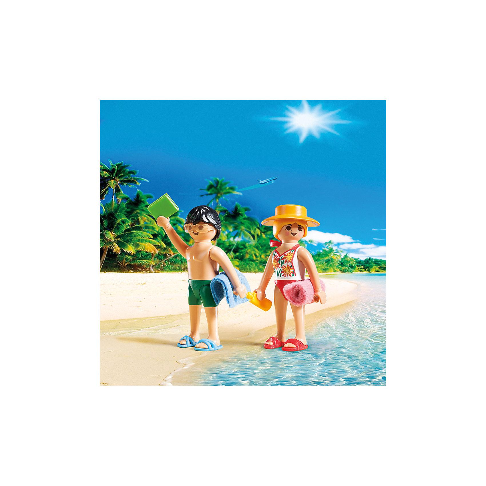 ДУО: Посетители пляжа, PLAYMOBILДУО: Посетители пляжа, PLAYMOBIL (Плэймобил)<br><br>Характеристики:<br><br>• подходит для интересного сюжета о летних приключениях <br>• изготовлены из прочных материалов<br>• в комплекте: 2 фигурки, аксессуары<br>• материал: пластик<br>• высота фигурок: 7,5 см<br>• размер упаковки: 15х15х4 см<br><br>Набор Посетители пляжа прекрасно подойдет для создания интересной истории на пляже. В комплект входят две фигурки, одетые в купальные костюмы и пляжные шлепанцы. Не обошлось и без таких важных аксессуаров как полотенца, крем для загара и книга. С этим набором ребенок сможет придумать необычную историю, которую он с радостью воплотит в игре!<br><br>ДУО: Посетители пляжа, PLAYMOBIL (Плэймобил) вы можете купить в нашем интернет-магазине.<br><br>Ширина мм: 150<br>Глубина мм: 147<br>Высота мм: 42<br>Вес г: 55<br>Возраст от месяцев: 48<br>Возраст до месяцев: 120<br>Пол: Унисекс<br>Возраст: Детский<br>SKU: 3786359