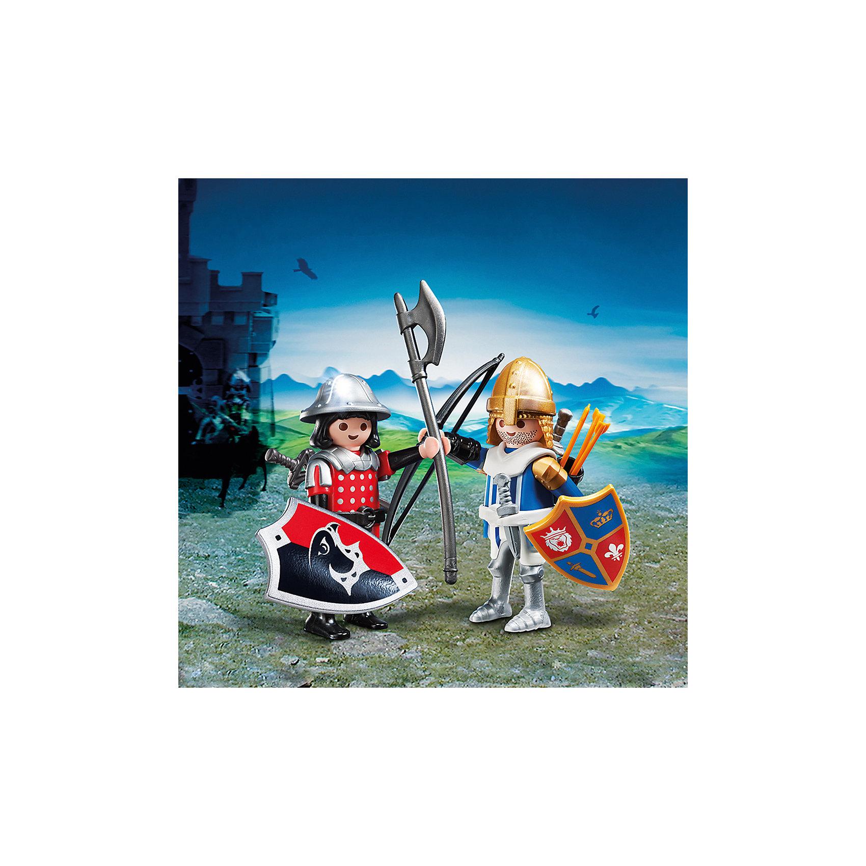 PLAYMOBIL® ДУО: Рыцари, PLAYMOBIL фигурки игрушки playmobil зоопарк стая фламинго