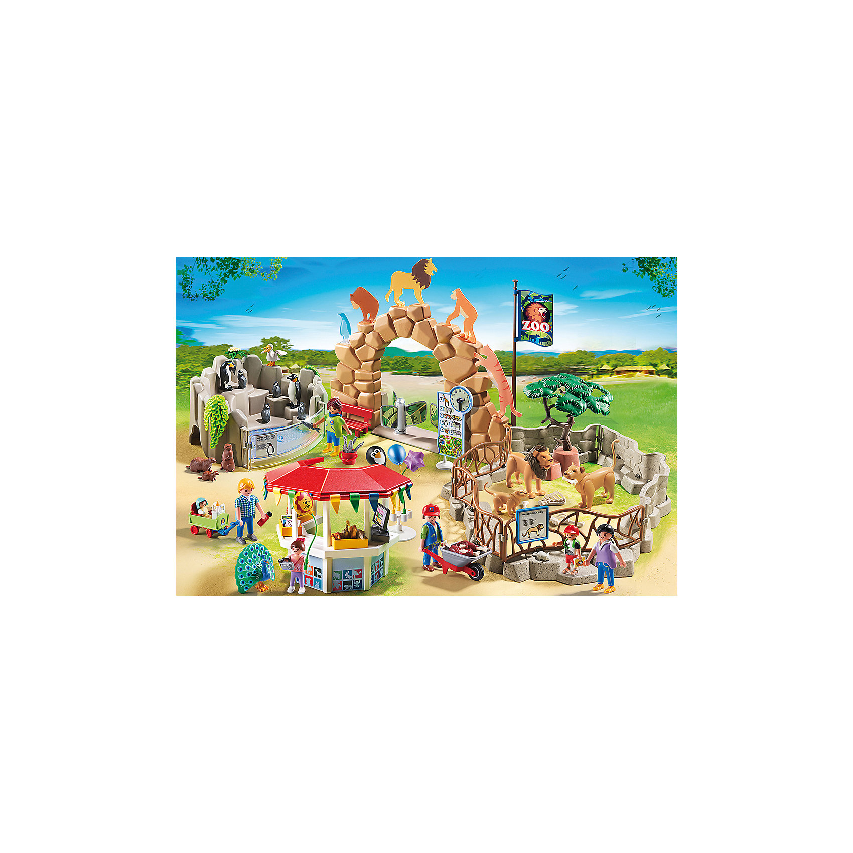 PLAYMOBIL® Мой большой зоопарк, PLAYMOBIL playmobil® зоопарк стая фламинго playmobil