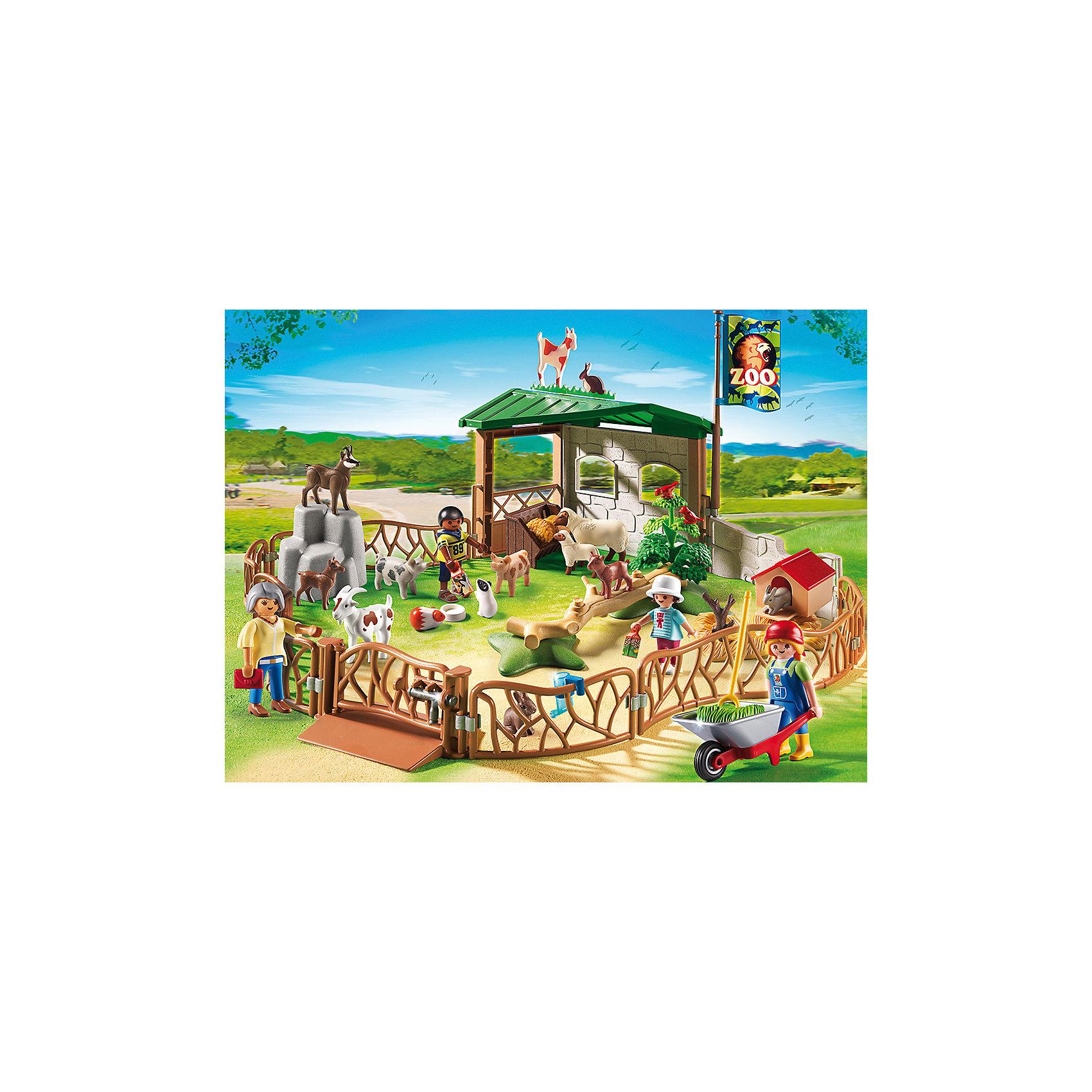 PLAYMOBIL® Детский контактный зоопарк, PLAYMOBIL фигурки игрушки playmobil зоопарк стая фламинго