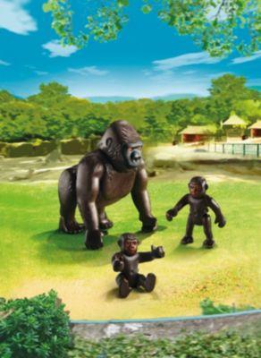 PLAYMOBIL® Зоопарк: Горилла со своими детенышами, PLAYMOBIL