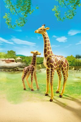 PLAYMOBIL® Зоопарк: Жираф со своим детенышем жирафом, PLAYMOBIL