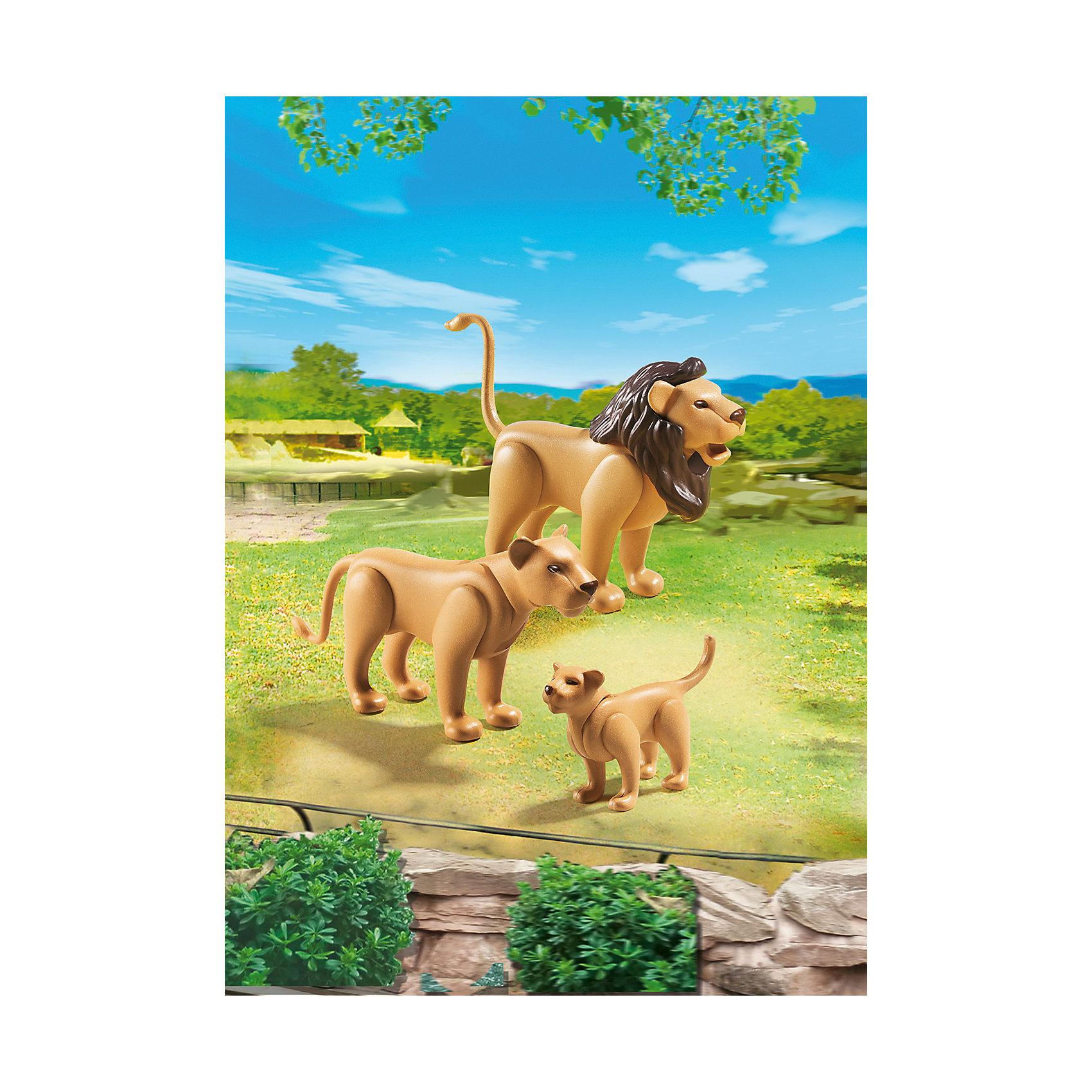 PLAYMOBIL® Зоопарк: Семья Львов, PLAYMOBIL фигурки игрушки playmobil зоопарк стая фламинго