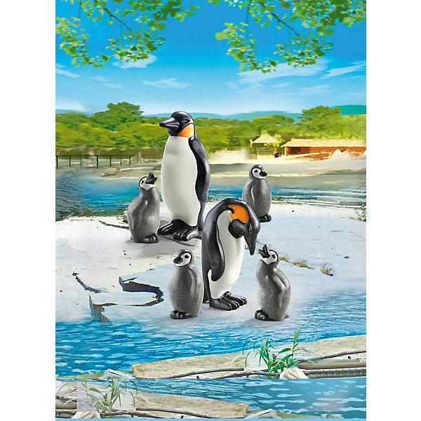 Зоопарк: Семья Пингвинов, PLAYMOBILПластмассовые конструкторы<br><br>Ширина мм: 178; Глубина мм: 124; Высота мм: 27; Вес г: 30; Возраст от месяцев: 48; Возраст до месяцев: 120; Пол: Унисекс; Возраст: Детский; SKU: 3786375;