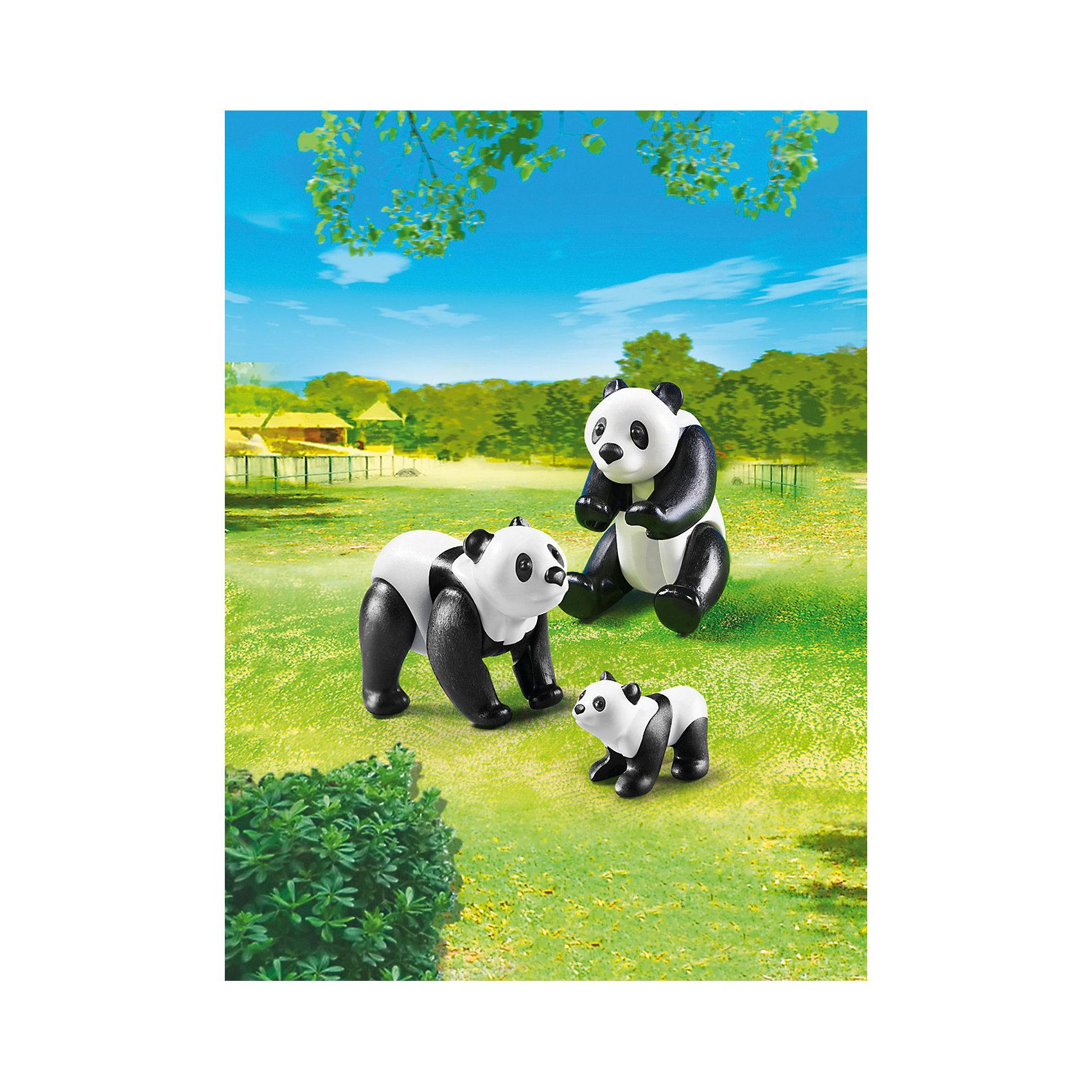Зоопарк: Семья Панд, PLAYMOBILПластмассовые конструкторы<br><br><br>Ширина мм: 178<br>Глубина мм: 124<br>Высота мм: 50<br>Вес г: 51<br>Возраст от месяцев: 48<br>Возраст до месяцев: 120<br>Пол: Унисекс<br>Возраст: Детский<br>SKU: 3786378