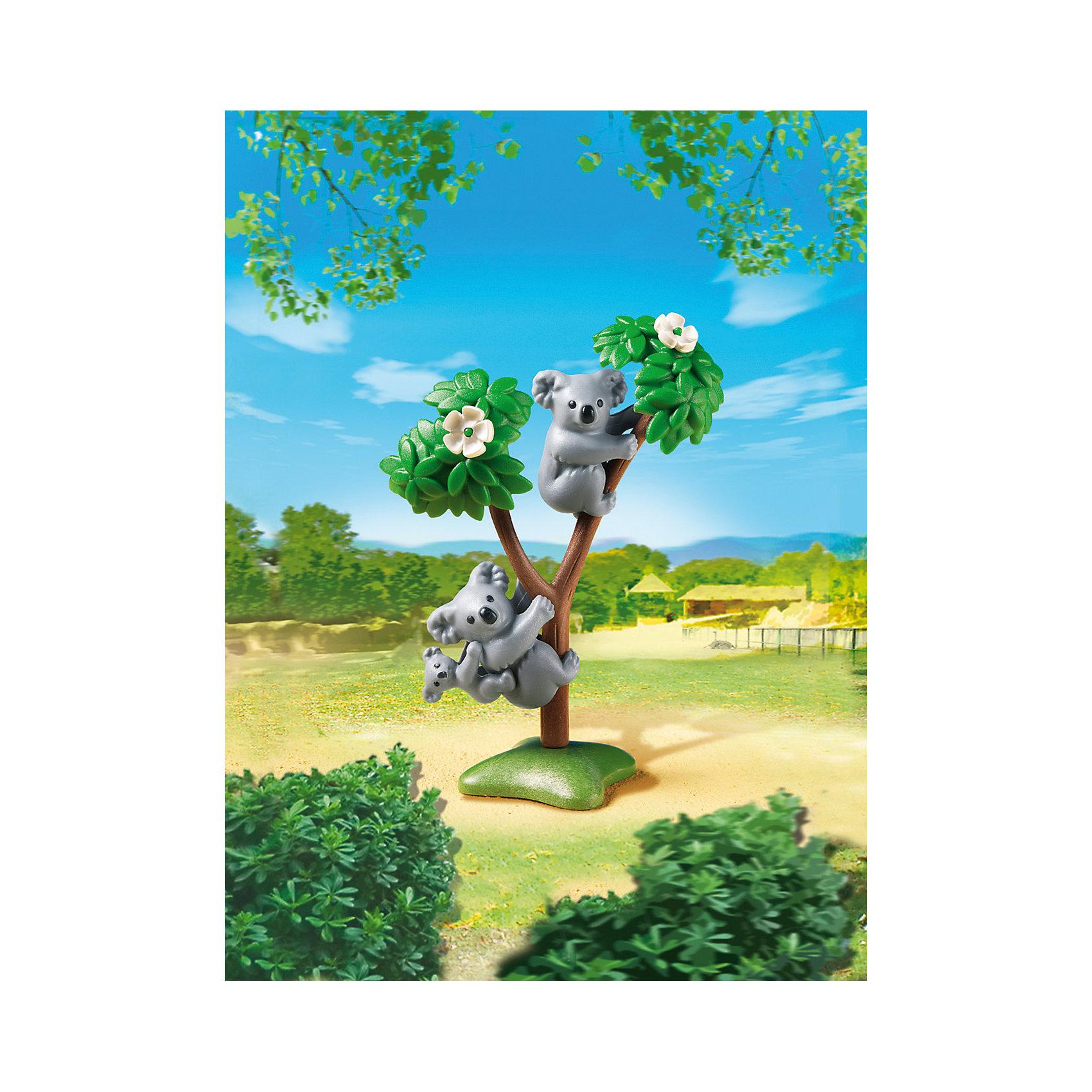 PLAYMOBIL® Зоопарк: Семья Коал, PLAYMOBIL фигурки игрушки playmobil зоопарк стая фламинго