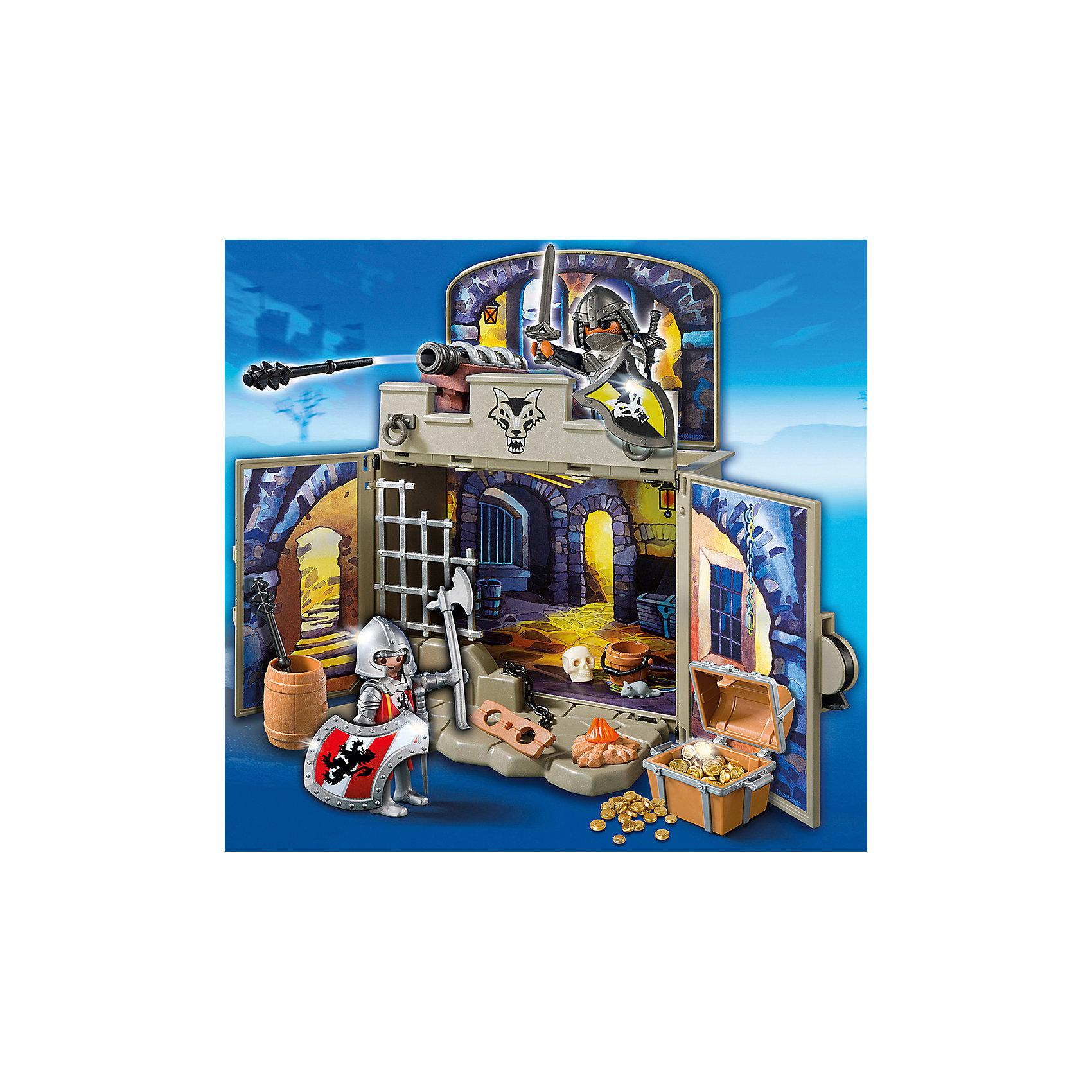 PLAYMOBIL® Возьми с собой: Сокровищница рыцарей, PLAYMOBIL playmobil® возьми с собой пляжное бунгало playmobil