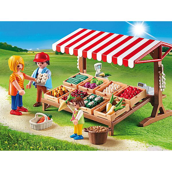 Фермерский рынок, PLAYMOBILПластмассовые конструкторы<br>Тебе представилась удивительная возможность побывать на настоящем фермерском рынке! Посмотри, сколько всего вкусного и полезного лежит на прилавке. Скорее купи что-нибудь к обеду. В наборе - прилавок, фигурка продавца, фигурка мамы с ребенком, продукты и аксессуары, которые сделают игру еще интереснее и реалистичнее. Фигурки имеют подвижные конечности, в руки можно вложить различные предметы. Все детали набора прекрасно проработаны, выполнены из высококачественного пластика. Играть с таким набором не только приятно и интересно - подобные виды игры развивают мелкую моторику, воображение, творческое мышление.<br><br>Дополнительная информация:<br><br>- Комплектация: 3 фигурки, прилавок, продукты, аксессуары. <br>- 3 фигурки в комплекте: продавец, мама с ребенком. <br>- Материал: пластик.<br>- Размер упаковки: 25х19х8 см.<br>- Высота фигурки: 7,5 см. <br>- Высота фигурки ребенка: 5,5 см.<br>- Голова, руки, ноги у фигурок подвижные.<br><br>Набор Фермерский рынок, PLAYMOBIL (Плеймобил), можно купить в нашем магазине.<br><br>Ширина мм: 254<br>Глубина мм: 190<br>Высота мм: 76<br>Вес г: 342<br>Возраст от месяцев: 48<br>Возраст до месяцев: 120<br>Пол: Унисекс<br>Возраст: Детский<br>SKU: 3786395
