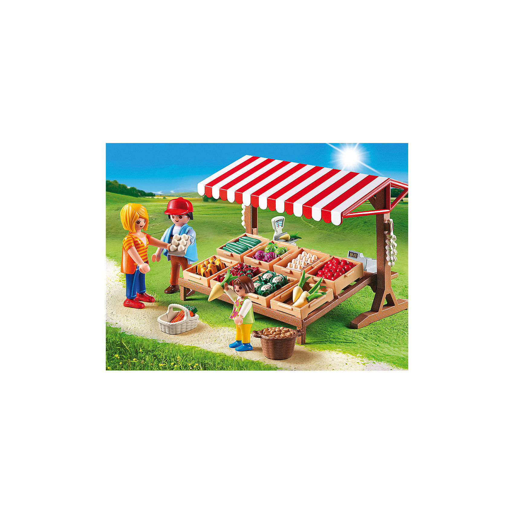 PLAYMOBIL® Фермерский рынок, PLAYMOBIL фигурки игрушки playmobil зоопарк стая фламинго