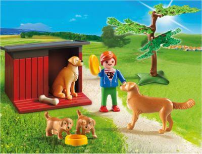 Playmobil® Ферма: Золотые Ретриверы С Щенками, Playmobil