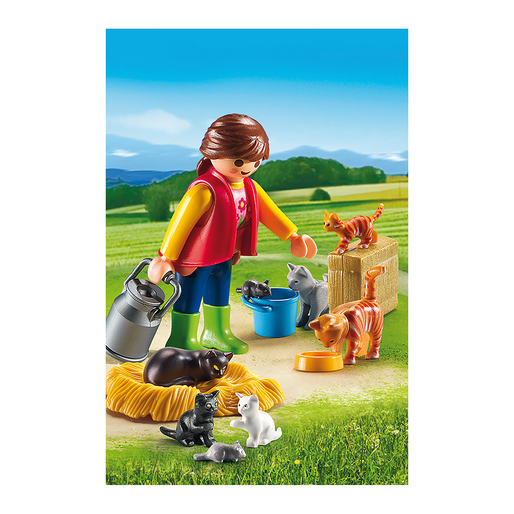 PLAYMOBIL® Ферма: Женщина с семейством кошек, PLAYMOBIL torx shape dn50 heating elements for soup bucket pot cinquefoil type 2 thread electric heat tube for cooker