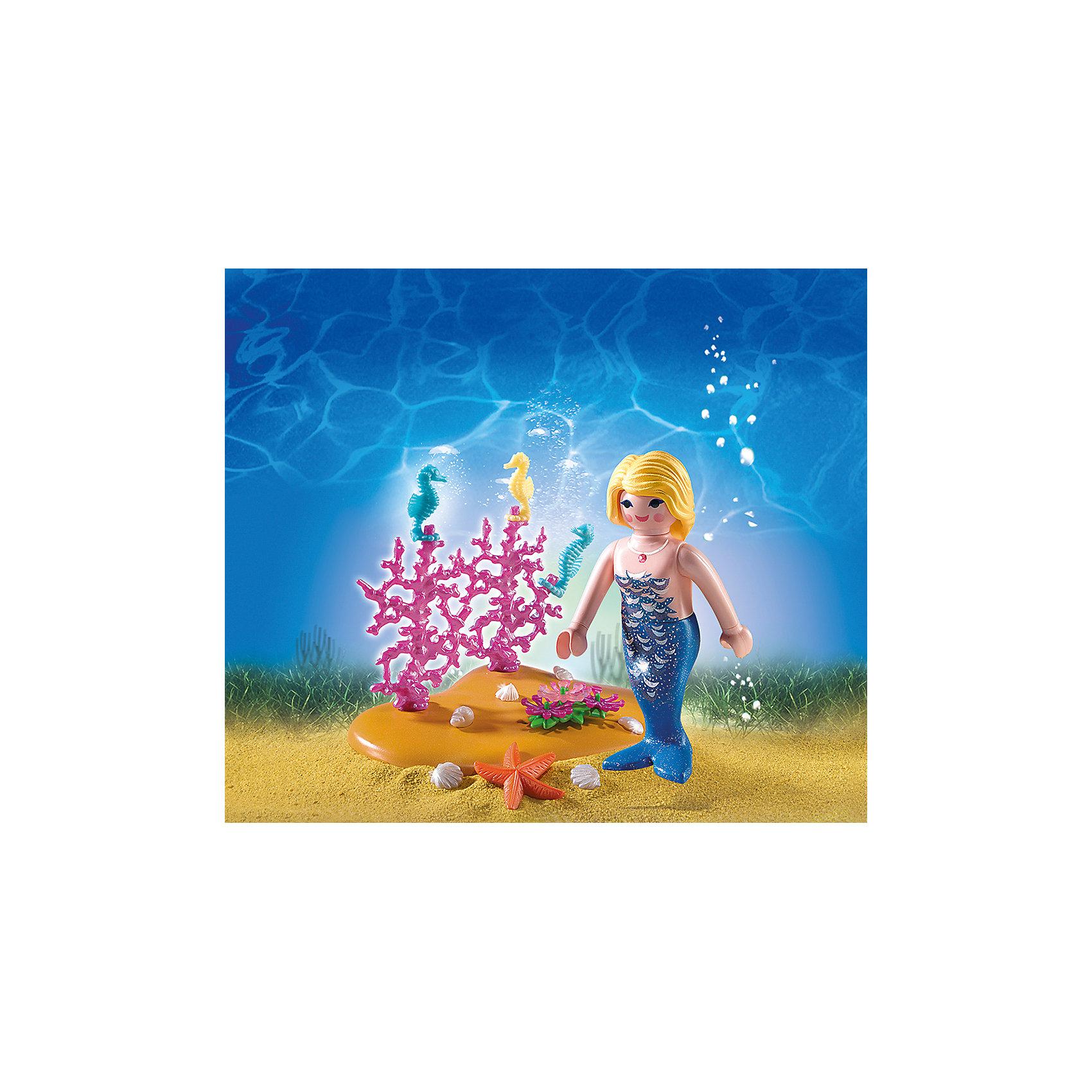 Яйцо: Русалочка и морские коньки, PLAYMOBILЯйцо: Русалочка и морские коньки, PLAYMOBIL (Плэймобил)<br><br>Характеристики:<br><br>• всё необходимое для создания подводной миниатюры<br>• оригинальная упаковка-яйцо<br>• материал: пластик<br>• высота русалочки: 7,5 см<br>• размер упаковки: 13х13х10 см<br>• в комплекте: русалочка, морские коньки, морская звезда, водоросли, ракушки<br><br>Набор игрушек от Плэймобил позволит ребенку создать необычную морскую миниатюру и придумать интересную историю. Для этого в комплект входят: русалочка, морские животные и растения. Кроме того, упаковка набора имеет необычную упаковку - яйцо, в котором удобно хранить детали набора после игры. Игрушки изготовлены из высококачественного пластика, который долго будет радовать вас своей долговечностью!<br><br>Яйцо: Русалочка и морские коньки, PLAYMOBIL (Плэймобил) вы можете купить в нашем интернет-магазине.<br><br>Ширина мм: 137<br>Глубина мм: 129<br>Высота мм: 101<br>Вес г: 149<br>Возраст от месяцев: 48<br>Возраст до месяцев: 120<br>Пол: Женский<br>Возраст: Детский<br>SKU: 3786407