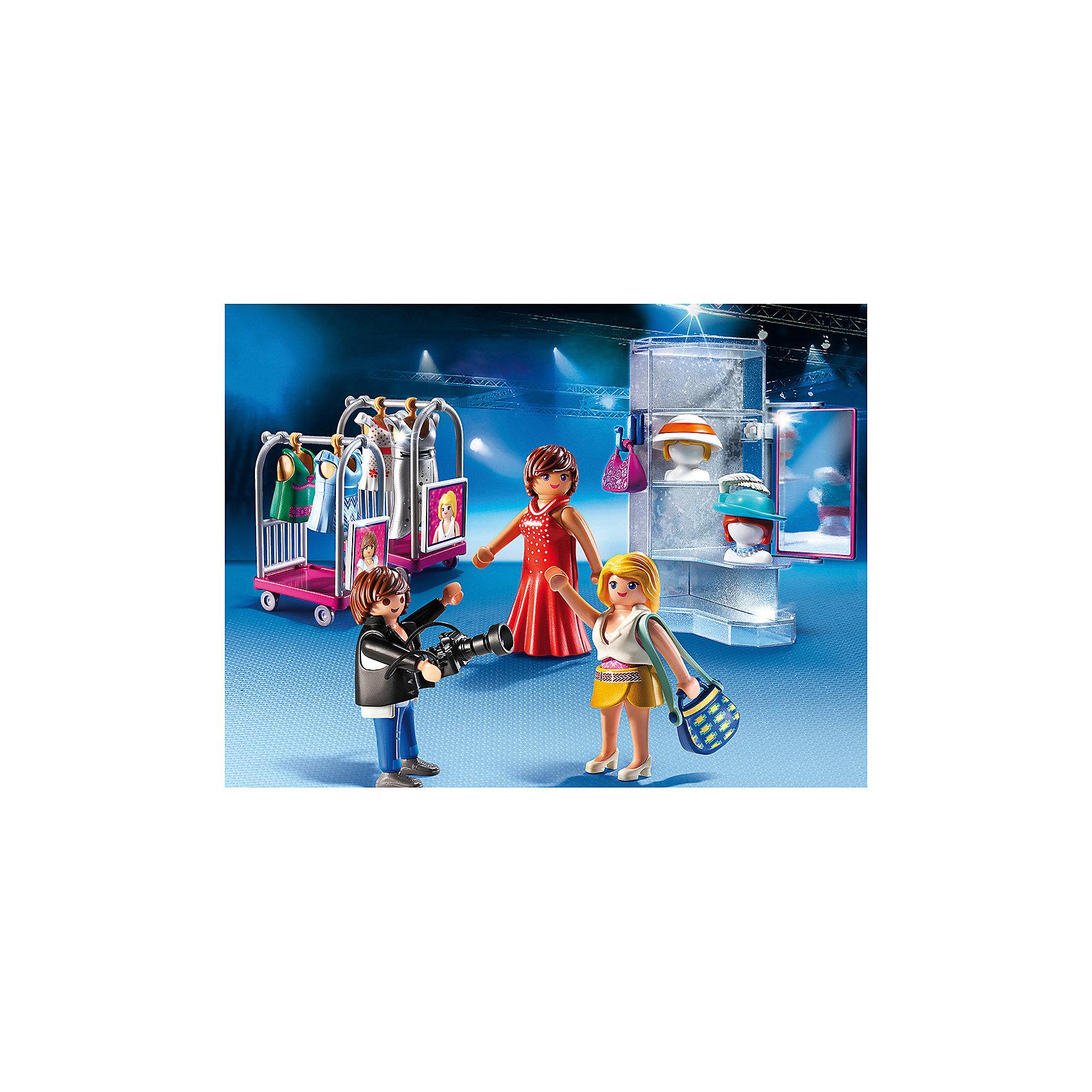Фэшн и Стиль: Фотосессия, PLAYMOBILПластмассовые конструкторы<br>Фэшн и Стиль: Фотосессия, PLAYMOBIL (Плэймобил)<br><br>Характеристики:<br><br>• игрушечная фотосессия для двух моделей<br>• роскошные наряды<br>• прочные материалы<br>• в комплекте: 2 модели, фотограф, стеллаж с зеркалом, 2 тележки для одежды, платья, шляпы, сумки, аксессуары<br>• материал: пластик<br>• размер упаковки: 24,8х18,7х7,2 см<br>• вес: 300 грамм<br><br>Две очаровательные девушки решили устроить настоящую фотосессию у модного фотографа! И, конечно же, ваш ребенок сможет помочь им. Для этого в комплект от Плэймобил входят несколько обворожительных нарядов, стеллаж с зеркалом и аксессуары. Одевайте моделей так, как подскажет воображение. Сюжетно-ролевые игры хорошо развивают координацию, моторику и фантазию.<br><br>Фэшн и Стиль: Фотосессия, PLAYMOBIL (Плэймобил) можно купить в нашем интернет-магазине.<br><br>Ширина мм: 250<br>Глубина мм: 190<br>Высота мм: 78<br>Вес г: 298<br>Возраст от месяцев: 48<br>Возраст до месяцев: 120<br>Пол: Женский<br>Возраст: Детский<br>SKU: 3786411