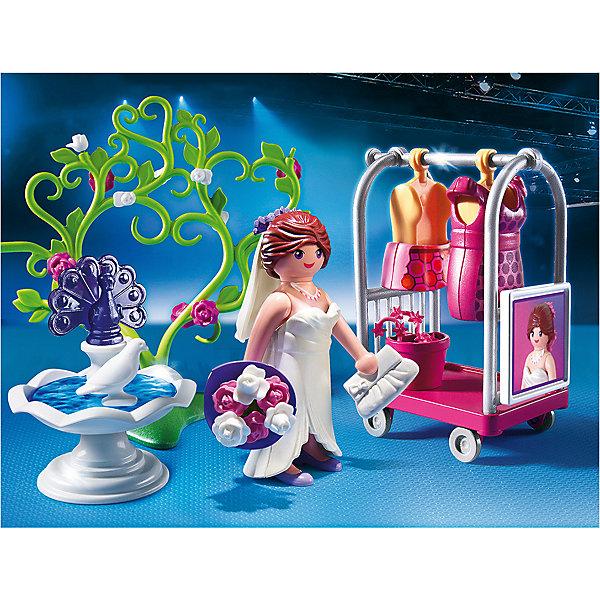 Фэшн и Стиль: Свадебная фотосессия, PLAYMOBILПластмассовые конструкторы<br>Фэшн и Стиль: Свадебная фотосессия, PLAYMOBIL (Плэймобил)<br><br>Характеристики:<br><br>• можно создать игрушечную свадебную фотосессию<br>• множество аксессуаров в комплекте<br>• материал: пластик<br>• в комплекте: фигурка (7,5 см), одежда, тележка для одежды, декорации, аксессуары<br>• размер упаковки: 18,7х14,2х7,2 см<br>• вес: 170 грамм<br><br>Наверное каждая девочка любит устраивать игрушечные свадьбы и наряжать игрушечных невест. В наборе Свадебная фотосессия от Плэймобил есть всё необходимое для веселой игры. Девочка сможет одеть невесту, установить восхитительные декорации и подготовить всё, что нужно для фотосессии. Это поможет развить моторику рук, координацию и воображение. Такая прелестная невеста придется по вкусу маленькой моднице!<br><br>Фэшн и Стиль: Свадебная фотосессия, PLAYMOBIL (Плэймобил) вы можете купить в нашем интернет-магазине.<br>Ширина мм: 191; Глубина мм: 144; Высота мм: 77; Вес г: 161; Возраст от месяцев: 48; Возраст до месяцев: 120; Пол: Женский; Возраст: Детский; SKU: 3786414;