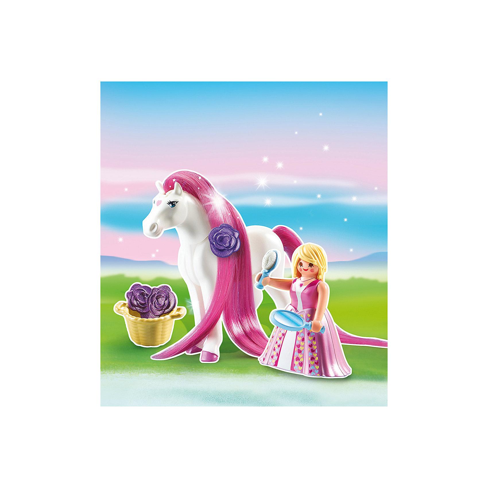 PLAYMOBIL® Принцессы: Принцесса Розали с Лошадкой, PLAYMOBIL playmobil мальчики с гоночным мотоциклом