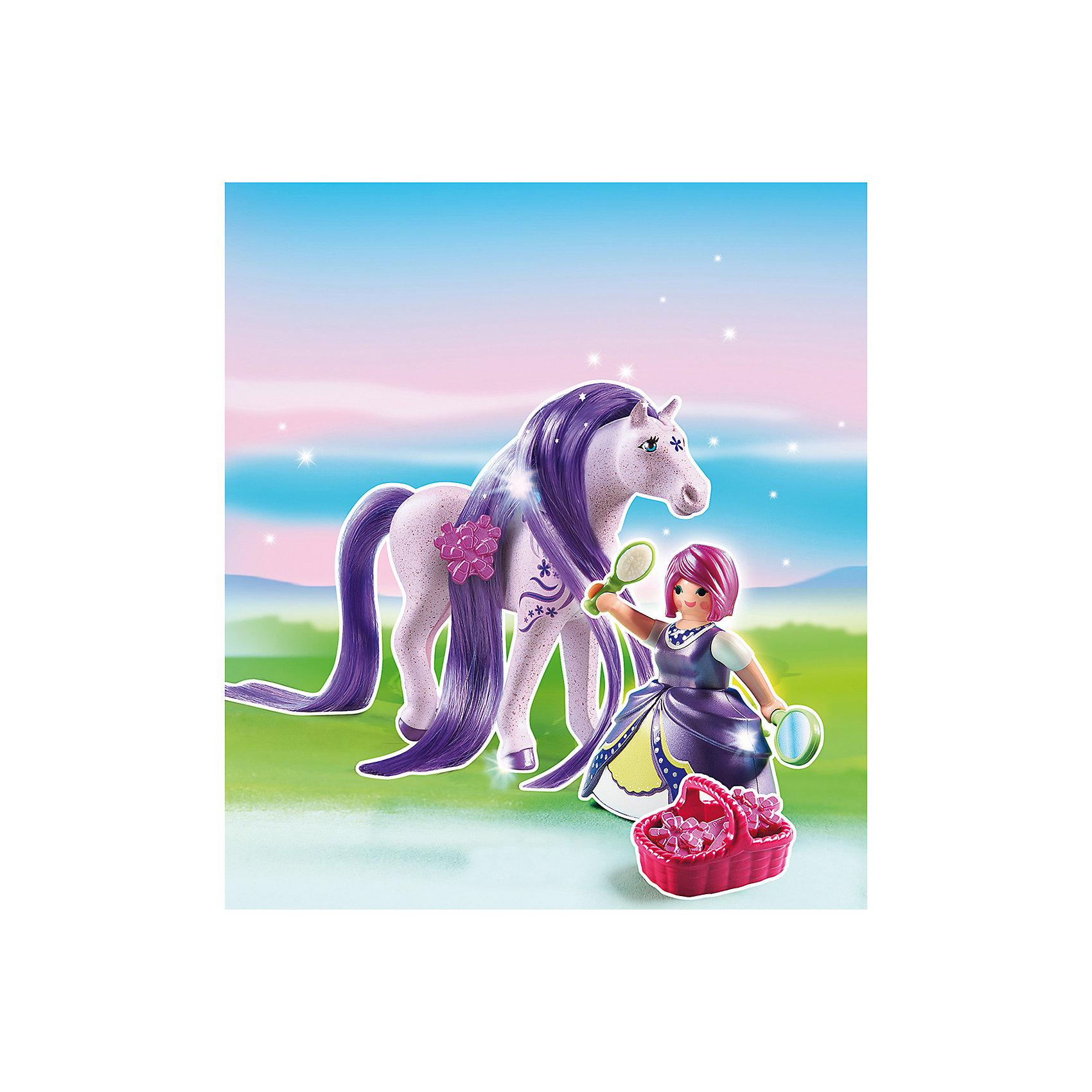 PLAYMOBIL® Принцессы: Принцесса Виола с Лошадкой, PLAYMOBIL playmobil мальчики с гоночным мотоциклом