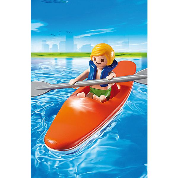 Аквапарк: Ребенок в каяке, PLAYMOBILПластмассовые конструкторы<br>Аквапарк: Ребенок в каяке, PLAYMOBIL (Плэймобил)<br><br>Характеристики:<br><br>• подходит для сюжетно-ролевых игр<br>• в комплекте: мальчик в спасательном жилете, весло, лодка-каяк<br>• материал: пластик<br>• высота фигурки: 5,25 см<br>• размер упаковки: 9,3х4,5х12,4 см<br>• вес: 60 грамм<br><br>Набор из серии Аквапарк от Плэймобил отлично дополнит коллекцию игрушек ребенка и поможет ему придумать приключения мальчика в каяке. В набор входит фигурка ребенка в спасательном жилете, лодка-каяк и весло, которое идеально помещается в руки фигурки. Все детали изготовлены из нетоксичного пластика, безопасного для детей. Игра поможет развить моторику рук, координацию и воображение.<br><br>Аквапарк: Ребенок в каяке, PLAYMOBIL (Плэймобил) вы можете купить в нашем интернет-магазине.<br>Ширина мм: 148; Глубина мм: 93; Высота мм: 49; Вес г: 57; Возраст от месяцев: 48; Возраст до месяцев: 120; Пол: Унисекс; Возраст: Детский; SKU: 3786439;