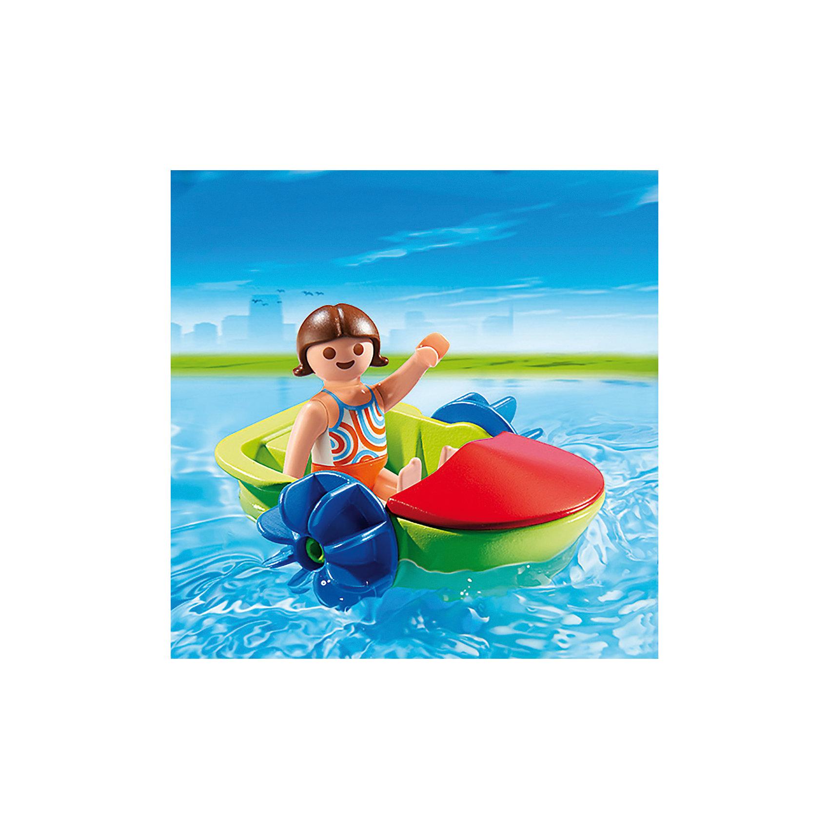 PLAYMOBIL® Аквапарк: Девочка в смешной лодке, PLAYMOBIL playmobil® зоопарк стая фламинго playmobil
