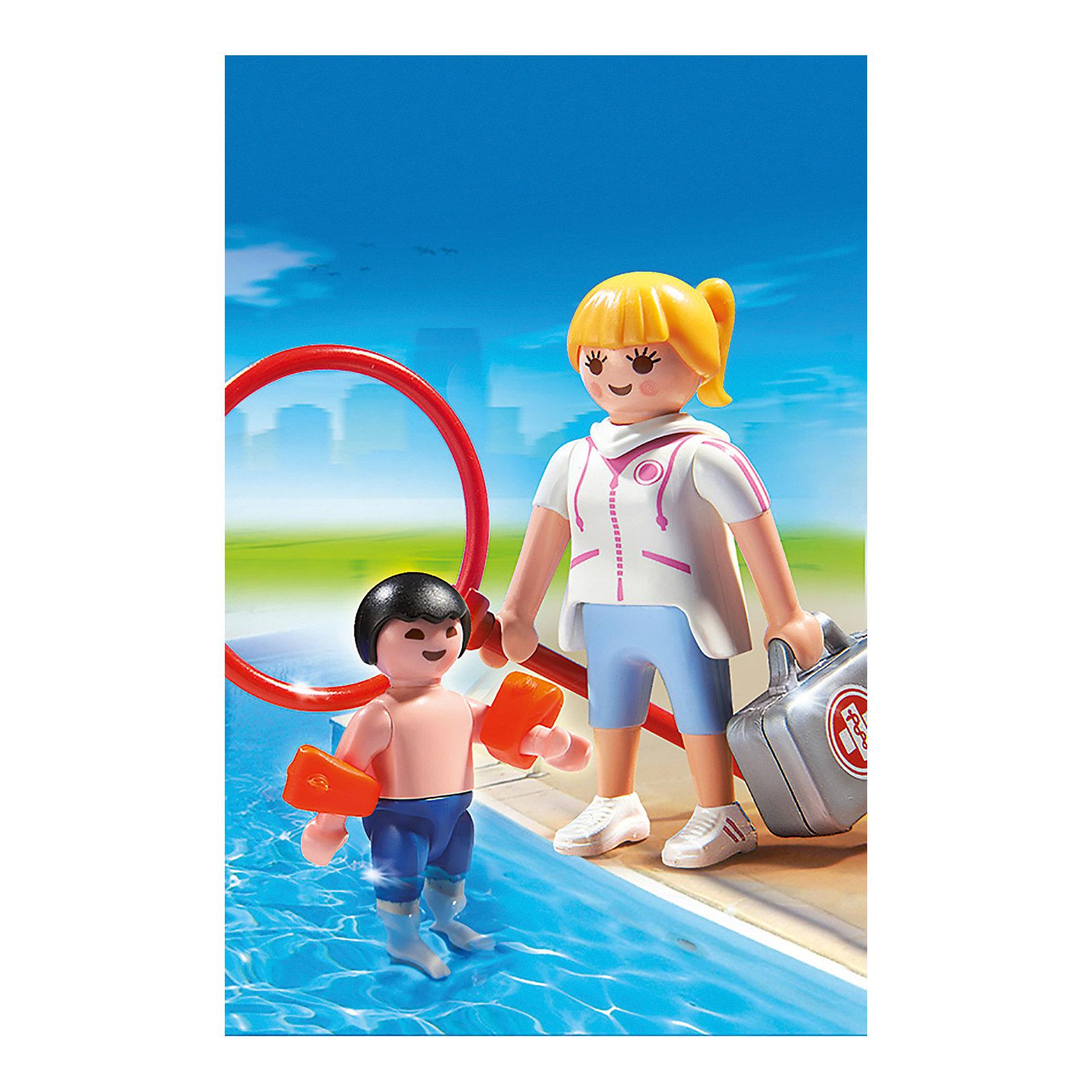 PLAYMOBIL® Аквапарк: Супервайзер в бассейне, PLAYMOBIL