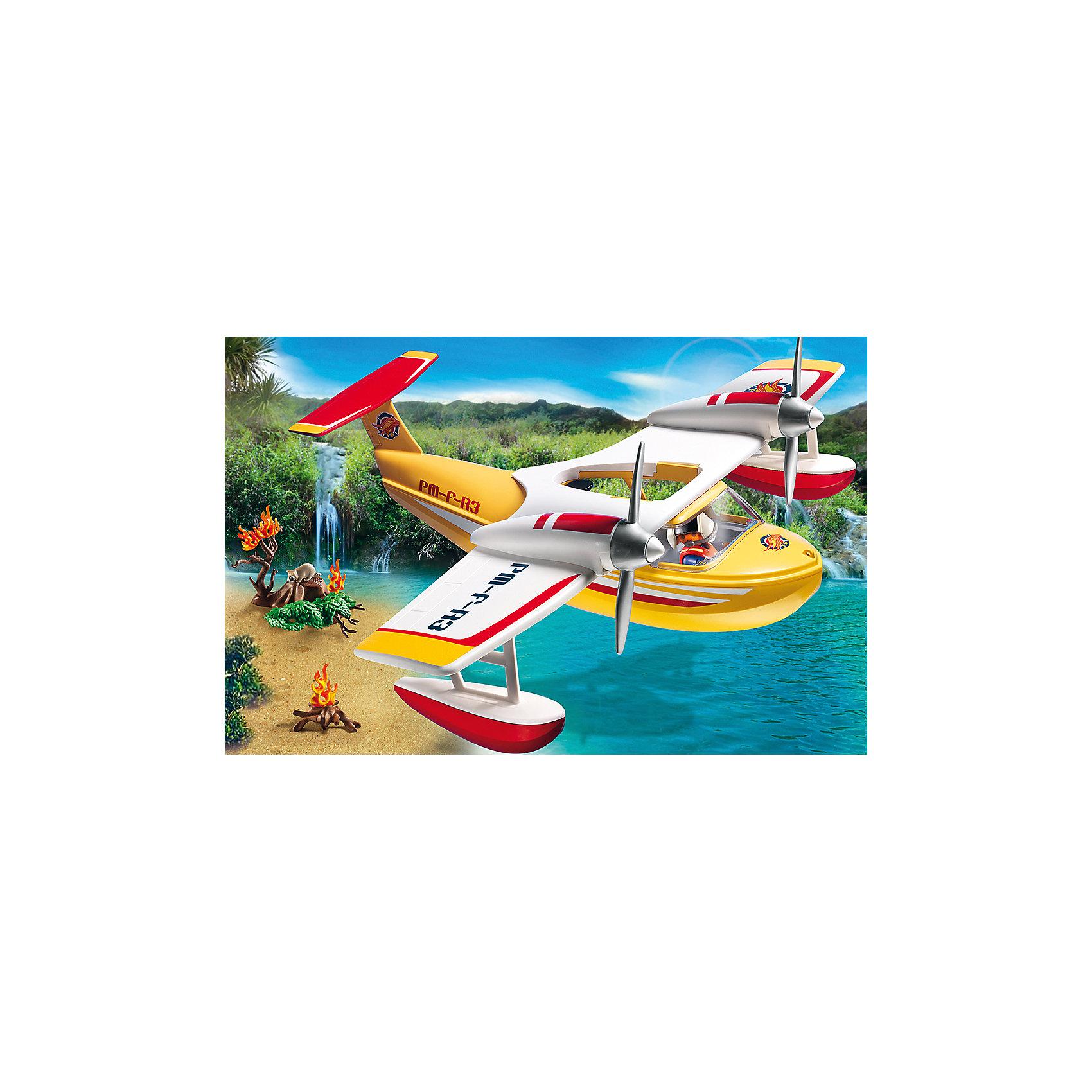 PLAYMOBIL® В Поисках Приключений: Самолет борется с огнем, PLAYMOBIL playmobil® зоопарк стая фламинго playmobil