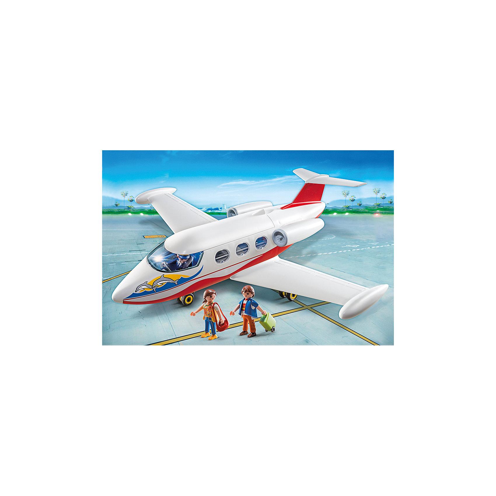 PLAYMOBIL® Каникулы: Самолет с туристами, PLAYMOBIL playmobil® зоопарк стая фламинго playmobil