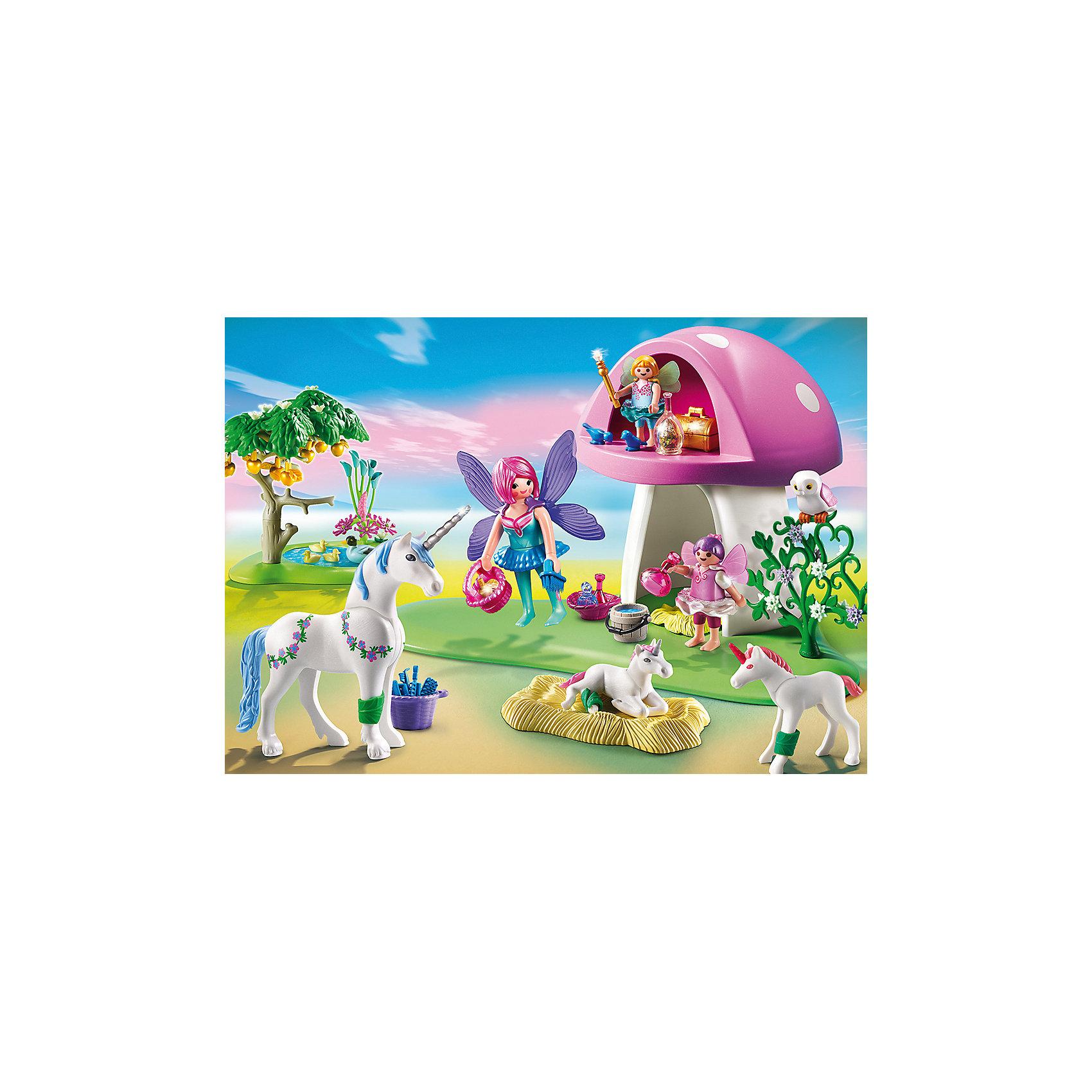 PLAYMOBIL® Феи: Роща Фей с Единорогами, PLAYMOBIL playmobil® зоопарк стая фламинго playmobil