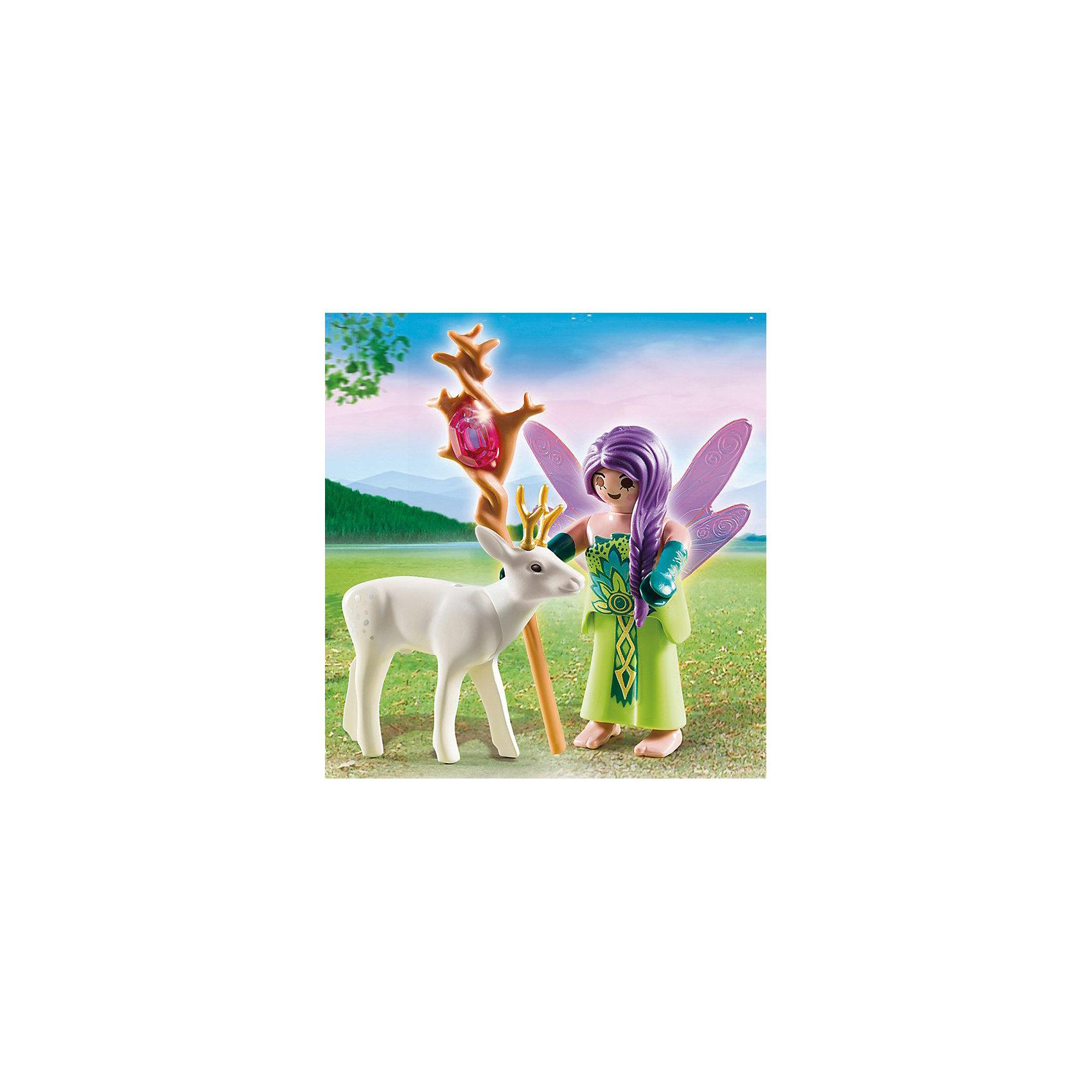 PLAYMOBIL® Экстра-набор: Фея с оленем, PLAYMOBIL playmobil® экстра набор пират и сундук с сокровищами playmobil