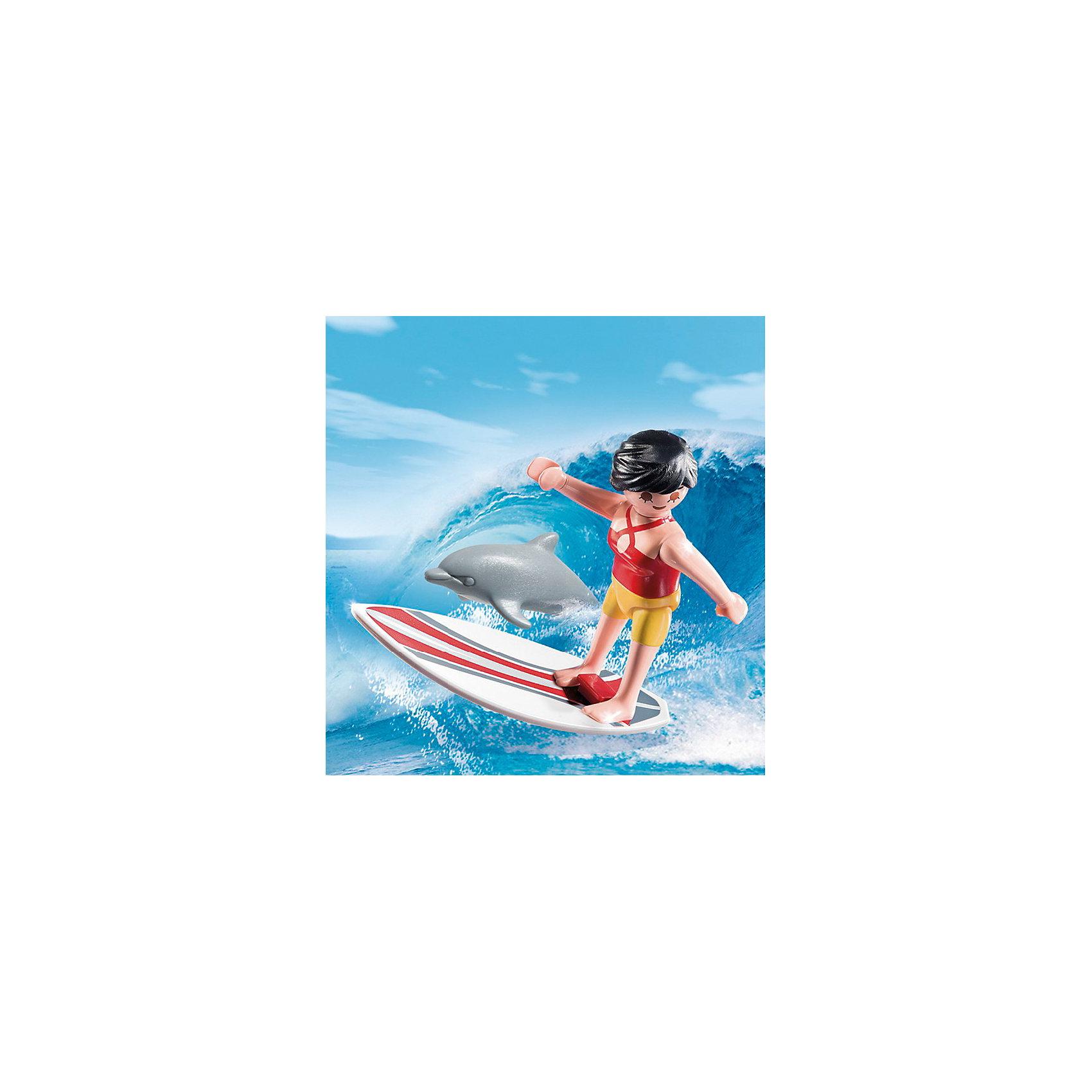 PLAYMOBIL® Экстра-набор: Сёрфингист с доской, PLAYMOBIL playmobil мальчики с гоночным мотоциклом