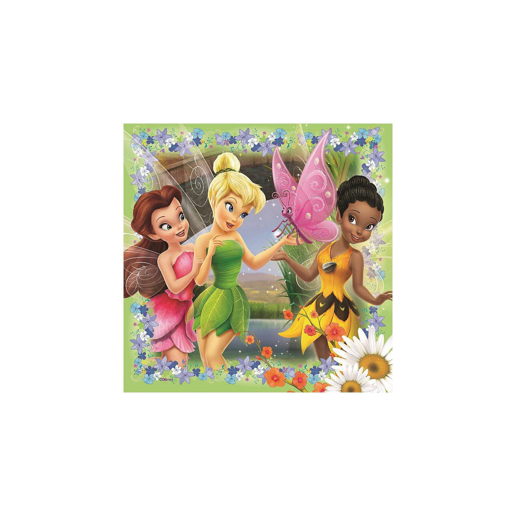 Пазл «Феи» набор из 25*36*49 деталей, RavensburgerПазлы для малышей<br>Собирать пазл «Феи» от Ravensburger (Равенсбургер) - это просто праздник для девочки. Феи Диснея (Disney) олицетворение красоты, нежности и доброты! Раньше малышка могла наблюдать за приключениями любимых героинь только с экрана, теперь может собрать картинки из их жизни у себя дома. В замечательном наборе 3 пазла. На них изображены феи в своих прекрасных нарядах. Картинки крупные и яркие, поэтому девочка будет с удовольствием собирать их снова и снова! Картинки получаются настолько яркими и привлекательными, что их можно использовать, как украшение комнаты, стоит только наклеить пазлы на картон. Вас порадует, что плотный картон, из которого состоит пазл не мнется во время сборки, яркая картинка защищена от расслаивания, благодаря чему такой пазл способен служить долгое время.<br>Набор пазлов Феи от Ravensburger (Равенсбургер) - это полезное и увлекательное занятие для всей семьи!<br> <br>Дополнительная информация:<br><br>- Набор из 3 пазлов;<br>- Развивает моторику и внимание;<br>- Прекрасный подарок любительнице мультфильмов Диснея (Disney);<br>- Матовая поверхность исключает отблески;<br>- Очень качественные элементы не расслаиваются;<br>- Материал: картон;<br>- Размер готовой картинки: 18 х 18 см;<br>- Размер упаковки: 22 х 22 х 7 см;<br>- Вес: 325 г<br><br>Пазл «Феи» набор из 25*36*49 деталей, Ravensburger (Равенсбургер) можно купить в нашем интернет-магазине.<br><br>Ширина мм: 220<br>Глубина мм: 220<br>Высота мм: 70<br>Вес г: 315<br>Возраст от месяцев: 48<br>Возраст до месяцев: 84<br>Пол: Унисекс<br>Возраст: Детский<br>Количество деталей: 25<br>SKU: 3787602