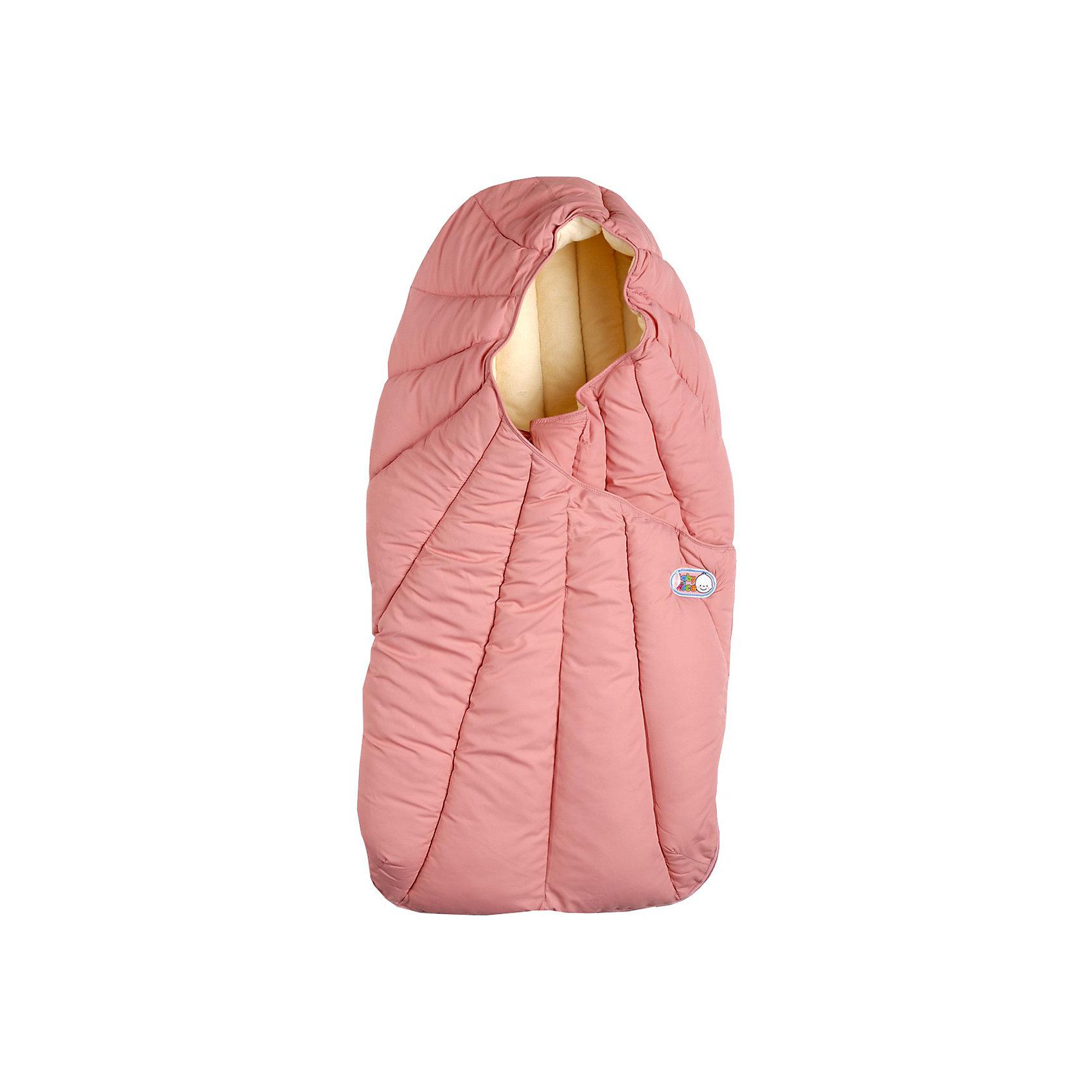 Конверт в коляску, 0-6 мес., Baby Nice, розовый от myToys