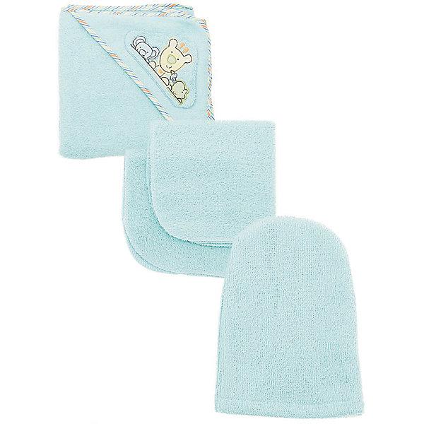 Комплект для купания, Baby Nice, голубойПолотенца для новорождённых с уголком<br>Дополнительная информация:<br><br>Махровый комплект включает: <br>- уголок 120х120 см, <br>- 2 салфетки 30х30 см, <br>- варежка.  <br>Состав 100% хлопок.<br>Вес в упаковке: 500 г.<br>Размер упаковки: 250 х 200 х 50 мм.<br><br>Комплект для купания, голубой можно купить в нашем магазине.<br>Ширина мм: 250; Глубина мм: 200; Высота мм: 50; Вес г: 500; Цвет: голубой; Возраст от месяцев: 0; Возраст до месяцев: 12; Пол: Мужской; Возраст: Детский; SKU: 3788252;