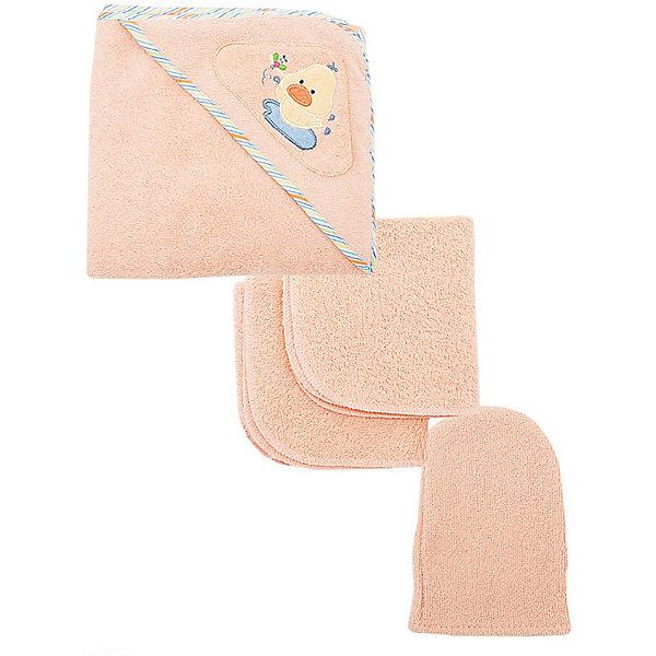 Комплект для купания, Baby Nice, персиковыйПолотенца для новорождённых с уголком<br>Дополнительная информация:<br><br>Махровый комплект включает: <br>- уголок 120х120 см, <br>- 2 салфетки 30х30 см, <br>- варежка.  <br>Состав 100% хлопок.<br>Вес в упаковке: 500 г.<br>Размер упаковки: 250 х 200 х 50 мм.<br><br>Комплект для купания, персиковый можно купить в нашем магазине.<br><br>Ширина мм: 250<br>Глубина мм: 200<br>Высота мм: 50<br>Вес г: 500<br>Цвет: оранжевый<br>Возраст от месяцев: 0<br>Возраст до месяцев: 12<br>Пол: Женский<br>Возраст: Детский<br>SKU: 3788253