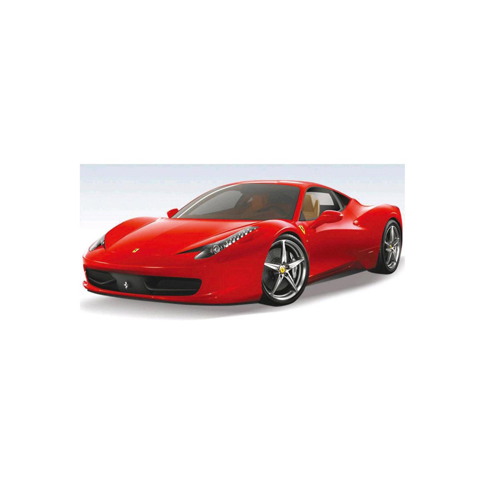 Машина ferrari 458 italia 1:18, со звуком, на р/у, RASTAR, в ассортиментеМашина ferrari 458 italia 1:18, со звуком, на р/у, RASTAR (Растар), в ассортименте – ослепительный, невероятно крутой Феррари на радиоуправлении.<br>Автомобиль Ferrari 458 Italia на радиоуправлении с проработкой всех деталей поражает приятным качеством и видом. Авто обладает неповторимым провокационным стилем и спортивным характером. А серьезные габариты придают реалистичность в управлении. Автомобиль отличается потрясающей маневренностью, динамикой и покладистостью. Управляется при помощи пульта дистанционного управления, сделанного в виде руля, что дает ребенку еще больше реалистичности в игре, кажется, что ребенок сам является водителем яркого феррари. Машина может осуществлять движение вперед, назад, вправо и влево.<br><br>Дополнительная информация:<br><br>- Комплект: машинка, пульт управления<br>- Масштаб: 1:18<br>- В ассортименте два варианта цвета машинки: желтый и красный<br>- Радиус действия пульта до 45 метров<br>- Пульт радиоуправления на частоте 27MHz.<br>- Максимальная скорость: 12 км/ч.<br>- Материал: пластмасса, элементы из металла, резина<br>- Тип батареек: 3x AA / LR6 1.5V, 1 x 9V типа Крона( в набор не входят)<br>- Размер машинки: 25.2х12.7х7 см.<br>- Упаковка: картонная коробка дисплейного типа<br> - Размер упаковки: 32 х 43 х 33 см.<br><br>ВНИМАНИЕ! Данный артикул представлен в разных цветовых исполнениях. К сожалению, заранее выбрать определенный цвет невозможно.  При заказе нескольких  машин возможно получение одинаковых<br><br>Машину ferrari 458 italia 1:18, со звуком, на р/у, RASTAR (Растар), в ассортименте можно купить в нашем интернет-магазине.<br><br>Ширина мм: 320<br>Глубина мм: 430<br>Высота мм: 330<br>Вес г: 2900<br>Возраст от месяцев: 36<br>Возраст до месяцев: 120<br>Пол: Мужской<br>Возраст: Детский<br>SKU: 3789448