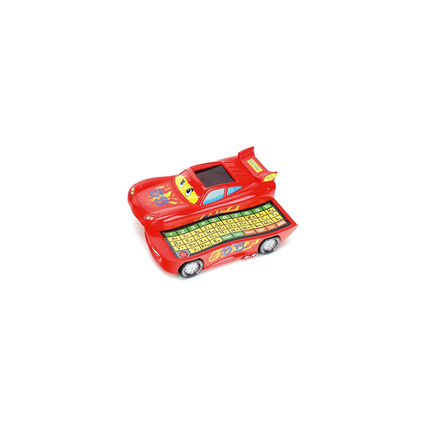 Обучающая машинка, с азбукой, УмкаИнтерактивные игрушки для малышей<br>Обучающая машинка, с азбукой, Умка – это забавная развивающая игрушка для малышей в виде машинки.<br>Этот оригинальный и умный детский гаджет будет не только развлечением, но и очень полезный вещицей у Вашего ребенка, которая каждый день будет знакомить его с чем-то новым и безумно радовать! Сделан этот чудо-гаджет в виде героя мультфильма «Тачки 2» (Cars) Молнии Маккуина и может даже неплохо ездить! Но основное преимущество этой игрушки в другом. Разложив ее одним движением руки, ребенок сможет начать игру-обучение! Внутри у машинки кроется сенсорная клавиатура, а на крыше располагается экран. На клавиатуре есть несколько режимов: алфавит, экзамен, слова, напиши слово, стихи и правила дорожного движения. В режиме «алфавит» ребенок может нажимать на буквы клавиатуры, а машинка будет произносить ее название. В режиме «Слова» машинка познакомит ребенка со словами, начинающимися на определенную букву, которую он нажал. «Напиши слово» - это режим, где ребенку нужно будет набрать правильно слово, данное машинкой в задании. Если оно написано с ошибкой, машинка сообщит об этом. <br>Также машинка может прочесть ребенку стихи и рассказать ему о правилах поведения на дороге. А в режиме экзамена ребенок сможет проверить полученные знания. От такой игрушки трудно будет оторваться и поэтому, обучение будет проходить интересно и с удовольствием!<br><br>Дополнительная информация:<br><br>- В памяти машинки: 53 стихотворения, песня<br>- Материал: высококачественная пластмасса<br>- Размер игрушки: 8 х 20 х 15 см.<br>- Батарейки: 3 x батареи х AA (входят в комплект)<br><br>Обучающую машинку, с азбукой, Умка можно купить в нашем интернет-магазине.<br><br>Ширина мм: 200<br>Глубина мм: 80<br>Высота мм: 160<br>Вес г: 440<br>Возраст от месяцев: 12<br>Возраст до месяцев: 60<br>Пол: Унисекс<br>Возраст: Детский<br>SKU: 3789459