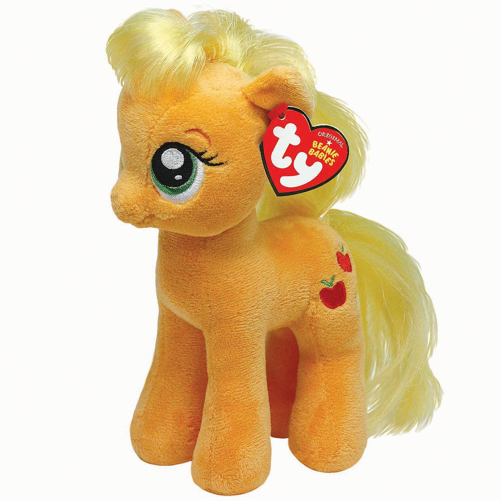 Пони Эпл Джек, 20 см, My little Pony, TyИгрушки<br>Пони Эпл Джек, 20 см, My little Pony, Ty обязательно порадует малышку-поклонницу мультсериала Моя маленькая Пони (Дружба - это чудо).<br>Мягкая игрушка Пони Эпл Джек от Ty для маленьких девочек, которые верят в чудеса и добрых пони. Ее миниатюрные размеры делают ее еще более обаятельной. Милая Пони Эпл Джек с невероятно добрыми искренними глазками еще никого не оставляла равнодушным! У пони мягкая шерстка бежевого цвета, светлая грива и длинный хвост. Она будет радовать девочку своим улыбающимся личиком. Мягкая игрушка изготовлена из высококачественных материалов, которые не принесут вреда детскому здоровью, только радость и захватывающие эмоции от новой игрушки, которая сошла с экрана телевизора, чтобы поиграть с вашей малышкой и научить ее быть доброй и отзывчивой.<br><br>Дополнительная информация:<br><br>- Игрушка развивает: тактильные навыки, зрительную координацию, мелкую моторику рук<br>- Яркие и стойкие цвета приятны для глаз<br>- Материал: текстиль, искусственный мех<br>- Наполнение: синтепон<br>- Размер игрушки: 20 см.<br><br>Мягкая игрушка Пони Эпл Джек, 20 см, My little Pony, Ty - подарите себе и своему ребенку частичку радости!<br><br>Мягкую игрушку Пони Эпл Джек, 20 см, My little Pony (Май литл Пони), Ty можно купить в нашем интернет-магазине.<br><br>Ширина мм: 360<br>Глубина мм: 190<br>Высота мм: 203<br>Вес г: 85<br>Возраст от месяцев: 36<br>Возраст до месяцев: 120<br>Пол: Женский<br>Возраст: Детский<br>SKU: 3789507