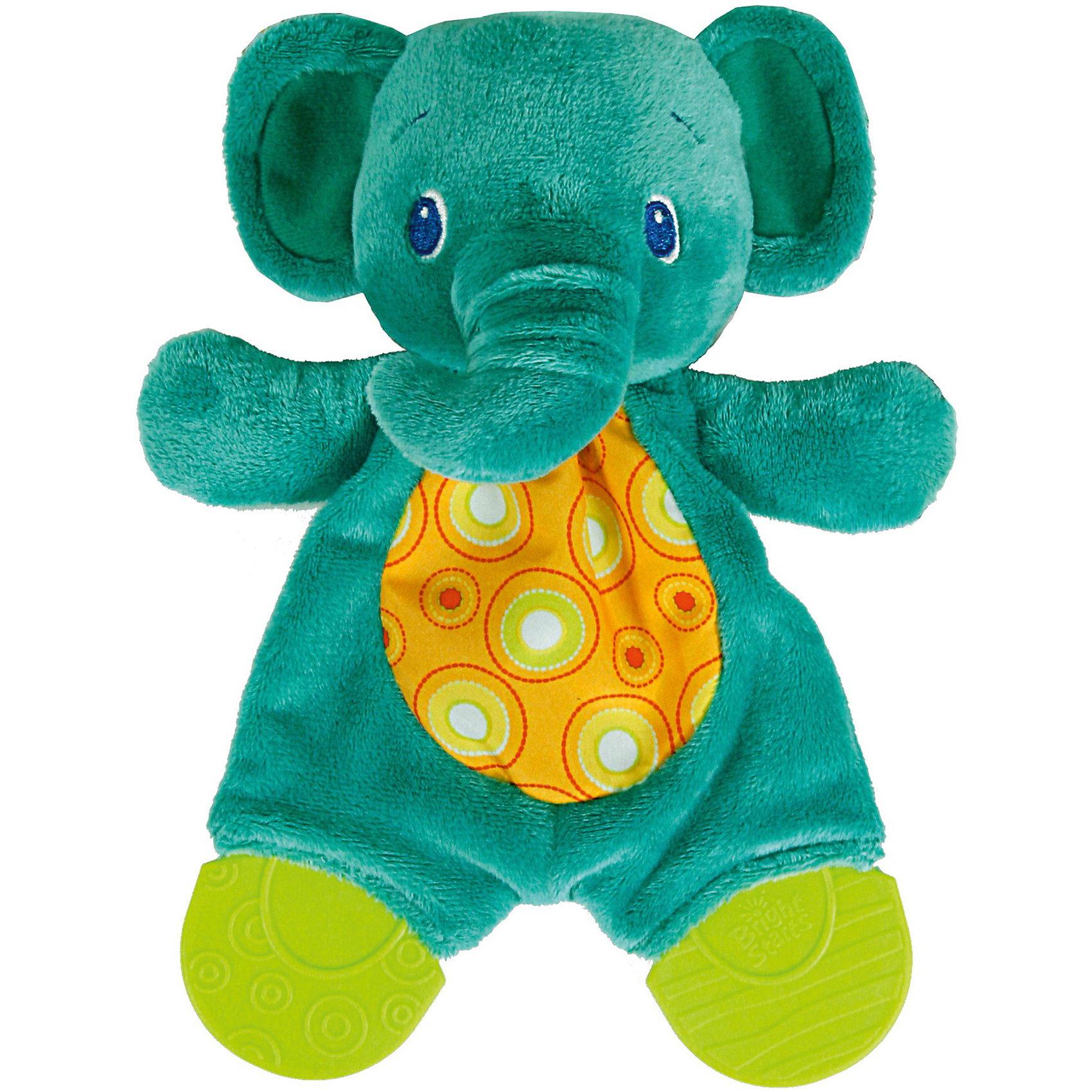 Bright Starts Развивающая игрушка Самый мягкий друг Слонёнок, с прорезывателями, Bright Starts bright starts развивающая игрушка слоненок