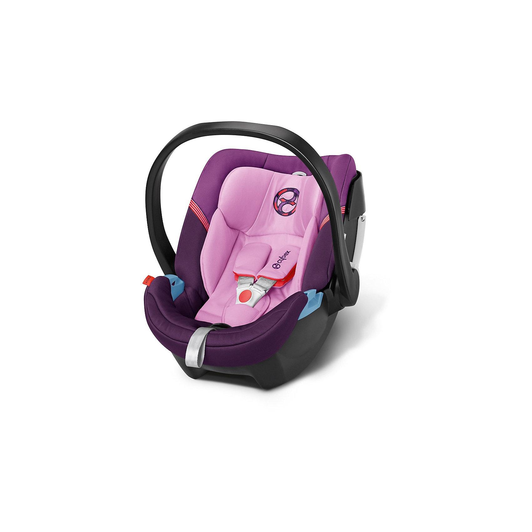 Автокресло Cybex Aton 4, 0-13 кг, Grape JuiceГруппа 0+ (До 13 кг)<br>Удобное надежное автокресло позволит перевозить ребенка, не беспокоясь при этом о его безопасности. Оно предназначено для самых маленьких. Такое кресло обеспечит малышу не только безопасность, но и комфорт (идеальный угол наклона, регулируемый по высоте подголовник, автоматическая регуляция ремней безопасности).<br>Автокресло устанавливают против движения. Такое кресло дает возможность свободно путешествовать, ездить в гости и при этом  быть рядом с малышом. Конструкция - очень удобная и прочная. Изделие произведено из качественных и безопасных для малышей материалов, оно соответствуют всем современным требованиям безопасности. Оно отлично показало себя на краш-тестах.<br> <br>Дополнительная информация:<br><br>цвет: фиолетовый;<br>материал: текстиль, пластик;<br>возраст: 0 - 12 месяцев;<br>вес  ребенка: не более 13 кг;<br>регулируемый по высоте подголовник с интегрированными направляющими;<br>огромный козырек от солнца размера XXL;<br>идеальный угол наклона;<br>можно использовать со штатными ремнями или с дополнительной базой;<br>8-позиционный регулируемый по высоте подголовник со встроенным направляющими для ремней;<br>с помощью адаптера может крепиться к коляскам;<br>установка против движения;<br>телескопическая система линейной защиты от боковых ударов (L.S.P. System);<br>соответствие Европейскому стандарту безопасности ЕСЕ R44/04.<br><br>Автокресло Aton 4, 0-13 кг., Grape Juice, от компании Cybex можно купить в нашем магазине.<br><br>Ширина мм: 695<br>Глубина мм: 445<br>Высота мм: 345<br>Вес г: 6150<br>Цвет: лиловый<br>Возраст от месяцев: 0<br>Возраст до месяцев: 12<br>Пол: Унисекс<br>Возраст: Детский<br>SKU: 3789528