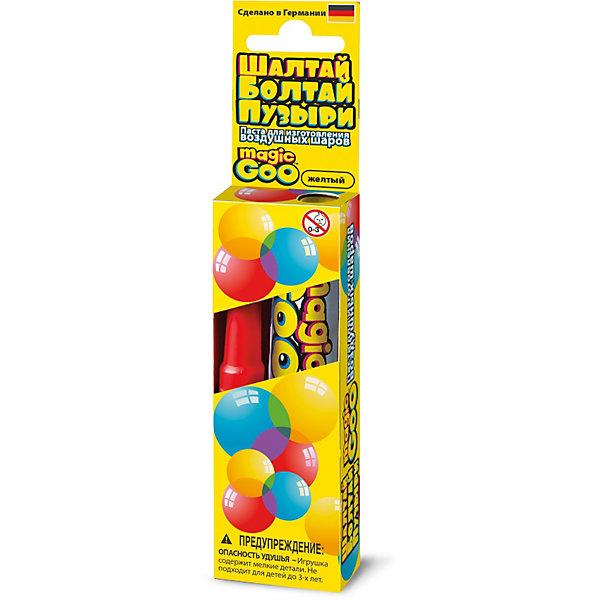 Шалтай-Болтай пузыри желтые, 4M 00-06300YМыльные пузыри<br>Создайте с помощью набора 4M Шалтай-Болтай гигантские, яркие и прочные пузыри, которые не лопнут в руках ребенка и позволят создать различные постройки и фигуры животных! В комплект входит:<br>- Тюбик с пастой для выдувания пузырей, 20 гр.<br>- Трубочка для выдувания пузырей<br>- Инструкция<br><br> <br><br><br>Как создать мыльный пузырь<br><br>    Смочите пальцы и нанесите небольшое количество пасты на кончик трубочки. Размер шара зависит от количества пасты нанесенной на трубочку.<br>    Подуйте в трубочку с другого конца, сначала слабо, потом немного сильнее. Если шарик прорвался, просто сожмите края дырочки вместе. Внутри трубочки есть предохранительный клапан, который не дает воздуху выйти из шара.<br>    После получения необходимого размера шара снимите его с трубочки, плотно прижав края отверстия, через которое идет воздух. Шарик готов!<br><br>Выдутый пузырь диаметром 50 см. впечатлит не только ребенка, но и взрослого! Удивите своих детей такими необычными наборами от компании 4M!<br><br>Ширина мм: 120<br>Глубина мм: 40<br>Высота мм: 20<br>Вес г: 50<br>Возраст от месяцев: 60<br>Возраст до месяцев: 96<br>Пол: Унисекс<br>Возраст: Детский<br>SKU: 3790345