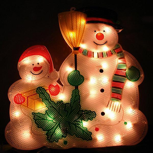 Панно «Снеговик» 36х34см, 35 лампНовогодние световые фигуры<br>Панно Снеговик, Волшебная страна станет замечательным украшением Вашего интерьера и поможет создать волшебную атмосферу новогоднего праздника. Красочное<br>светящееся панно с 35 мини лампами выполнено в виде фигурок двух веселых снеговиков. <br><br>Дополнительная информация:<br><br>- Материал: ПВХ, алюминий, медь.<br>- Размер панно: 36 х 34 см.<br>- Размер упаковки: 37 х 34 х 2 см.<br>- Вес: 0,33 кг. <br>- Мощность: 31,5Вт<br>- Напряжение: 220-240В<br><br>Панно Снеговик, Волшебная страна можно купить в нашем интернет-магазине.<br><br>Ширина мм: 370<br>Глубина мм: 340<br>Высота мм: 20<br>Вес г: 333<br>Возраст от месяцев: 60<br>Возраст до месяцев: 180<br>Пол: Унисекс<br>Возраст: Детский<br>SKU: 3791293