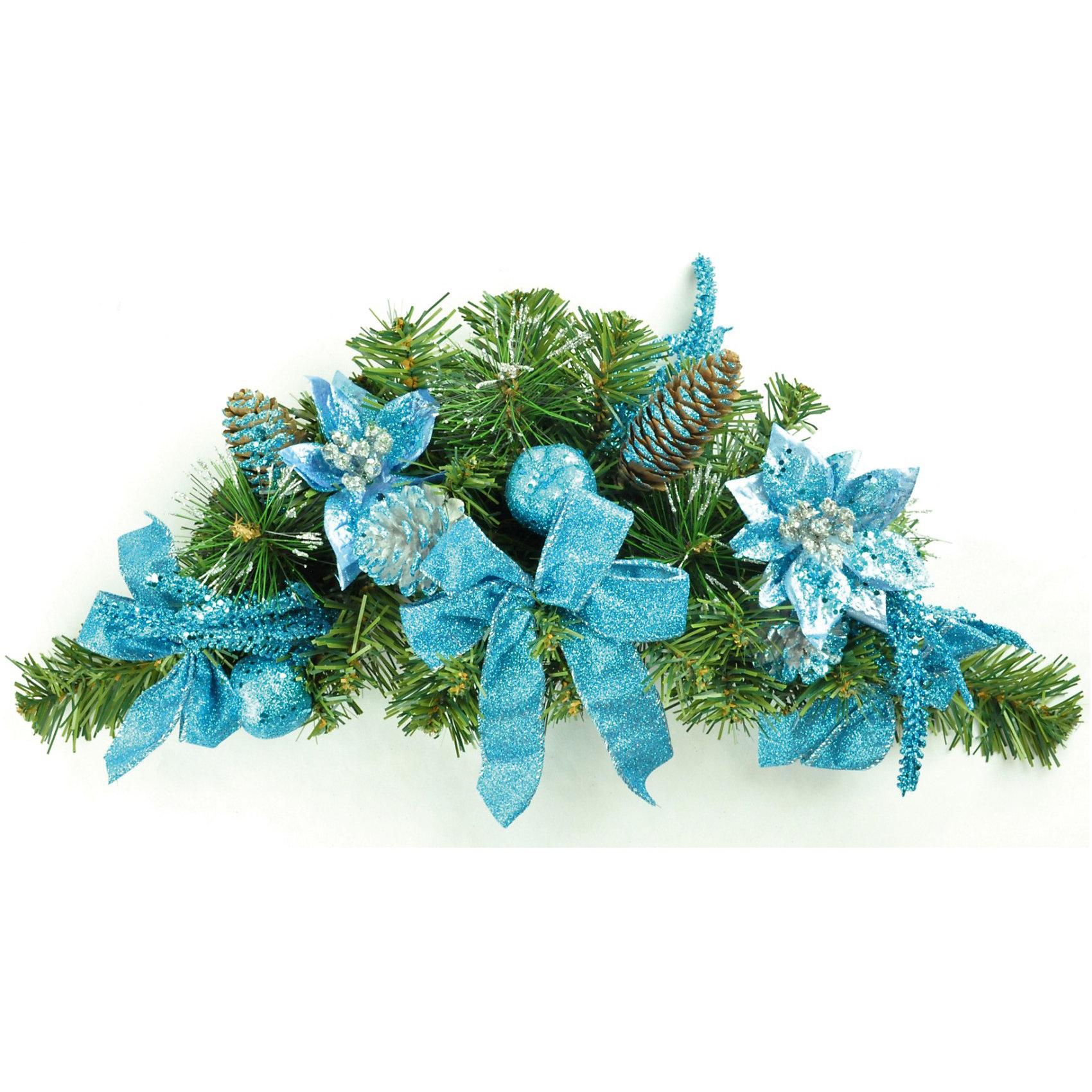Гирлянда хвойная декорированная, 45 смВсё для праздника<br>Гирлянда хвойная декорированная, Волшебная страна станет замечательным украшением Вашего интерьера и поможет создать волшебную атмосферу новогодних праздников.<br>Нарядная, искусно выполненная гирлянда в виде еловых веток украшена голубыми цветами, бантиками и шишками. <br><br>Дополнительная информация:<br><br>- Размер гирлянды: 45 см.<br>- Размер упаковки: 2 х 12,8 х 2,2 см.<br>- Вес: 0,214 кг. <br><br>Гирлянду хвойную декорированную, Волшебная страна можно купить в нашем интернет-магазине.<br><br>Ширина мм: 600<br>Глубина мм: 200<br>Высота мм: 120<br>Вес г: 214<br>Возраст от месяцев: 60<br>Возраст до месяцев: 180<br>Пол: Унисекс<br>Возраст: Детский<br>SKU: 3791301