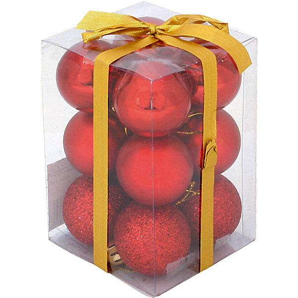 Шары, 4 см, 12 шт.Ёлочные игрушки<br>Набор шаров, Волшебная страна станет замечательным украшением для Вашей новогодней елки и поможет создать праздничную волшебную атмосферу. В комплекте 12 красных<br>шаров с разным покрытием: 4 глянцевых, 4 матовых и 4 сверкающих, они будут чудесно смотреться на елке и радовать детей и взрослых. Шары упакованы в прозрачную<br>коробочку из ПВХ, перевязанную бантиком.<br><br>Дополнительная информация:<br><br>- Цвет: красный.<br>- В комплекте: 12 шт.<br>- Диаметр шара: 4 см.<br>- Размер упаковки: 7,7 x 11,5 x 7,8 см.<br>- Вес: 69 гр.<br><br>Шары, Волшебная страна можно купить в нашем интернет-магазине.<br><br>Ширина мм: 360<br>Глубина мм: 120<br>Высота мм: 80<br>Вес г: 69<br>Возраст от месяцев: 60<br>Возраст до месяцев: 180<br>Пол: Унисекс<br>Возраст: Детский<br>SKU: 3791333