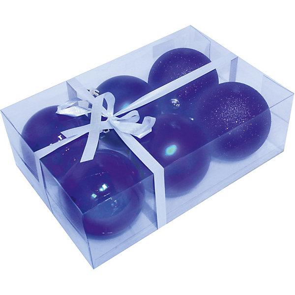 Шары, 8 см, 6 шт.Ёлочные игрушки<br>Набор шаров, Волшебная страна станет замечательным украшением для Вашей новогодней елки и поможет создать праздничную волшебную атмосферу. В комплекте шесть<br>синих шаров с разным покрытием: 2 глянцевых, 2 матовых и 2 сверкающих, они будут чудесно смотреться на елке и радовать детей и взрослых. Шары упакованы в<br>прозрачную коробочку из ПВХ, перевязанную бантиком.<br><br>Дополнительная информация:<br><br>- Цвет: синий.<br>- В комплекте: 6 шт.<br>- Диаметр шара: 8 см.<br>- Размер упаковки: 23,5 x 8 x 15,7 см.<br>- Вес: 187 гр.<br><br>Набор шаров, Волшебная страна можно купить в нашем интернет-магазине.<br>Ширина мм: 480; Глубина мм: 80; Высота мм: 160; Вес г: 187; Возраст от месяцев: 60; Возраст до месяцев: 180; Пол: Унисекс; Возраст: Детский; SKU: 3791339;
