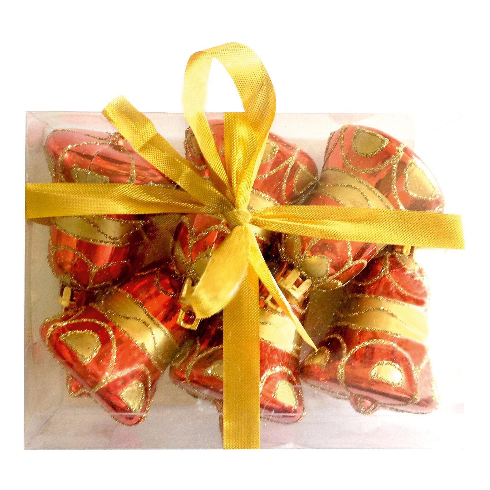 Елочное украшение «Колокольчики», 6 см, 6 шт.Всё для праздника<br>Елочное украшение Колокольчики, Волшебная страна замечательно дополнит наряд Вашей новогодней елки и поможет создать праздничную радостную атмосферу. Украшение<br>выполнено в виде красочного колокольчика, украшенного узором, оно будет чудесно смотреться на елке и радовать детей и взрослых. Игрушки упакованы в прозрачную<br>коробочку из ПВХ, перевязанную ленточкой.<br><br>Дополнительная информация:<br><br>- В комплекте: 6 шт.<br>- Размер украшения: 6 см.<br>- Размер упаковки: 12 x 10 x 5 см.<br>- Вес: 60 гр.<br><br>Елочное украшение Колокольчики, Волшебная страна можно купить в нашем интернет-магазине.<br><br>Ширина мм: 490<br>Глубина мм: 100<br>Высота мм: 50<br>Вес г: 60<br>Возраст от месяцев: 60<br>Возраст до месяцев: 180<br>Пол: Унисекс<br>Возраст: Детский<br>SKU: 3791357