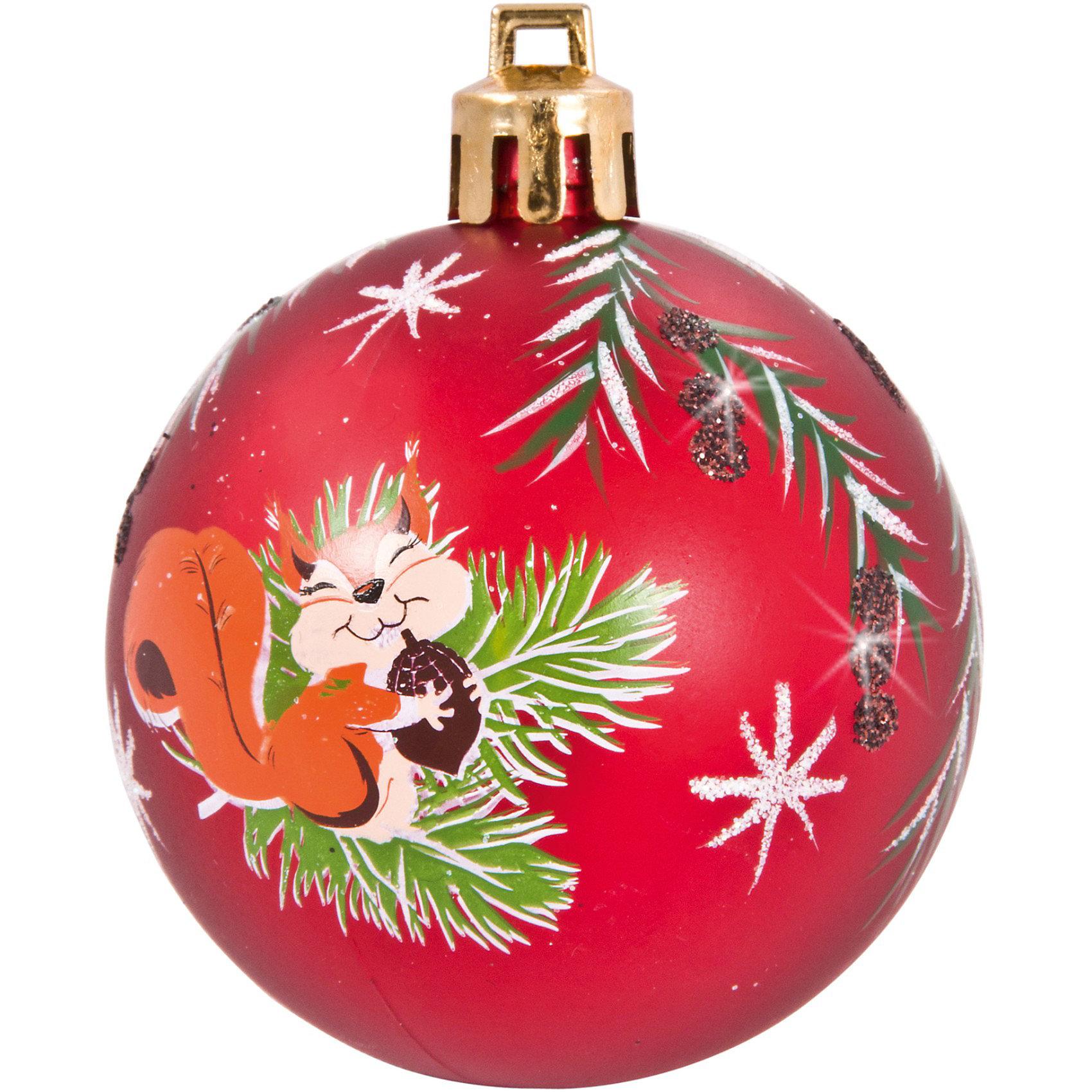 Шары с рисунком Белочка, 6 см, 4 шт., цвет - красныйШары с рисунком Белочка, Волшебная страна станут замечательным украшением для Вашей новогодней елки и помогут создать праздничную волшебную атмосферу. В<br>комплекте четыре красных шара с изображением симпатичной белочки, они будут чудесно смотреться на елке и радовать детей и взрослых. Шары упакованы в прозрачную<br>коробочку из ПВХ.<br><br>Дополнительная информация:<br><br>- Цвет: красный.<br>- В комплекте: 4 шт.<br>- Диаметр шара: 6 см.<br>- Размер упаковки: 12 x 12 x 6 см.<br>- Вес: 75 гр.<br><br>Шары с рисунком Белочка, Волшебная страна, можно купить в нашем интернет-магазине.<br><br>Ширина мм: 530<br>Глубина мм: 120<br>Высота мм: 60<br>Вес г: 75<br>Возраст от месяцев: 60<br>Возраст до месяцев: 180<br>Пол: Унисекс<br>Возраст: Детский<br>SKU: 3791382