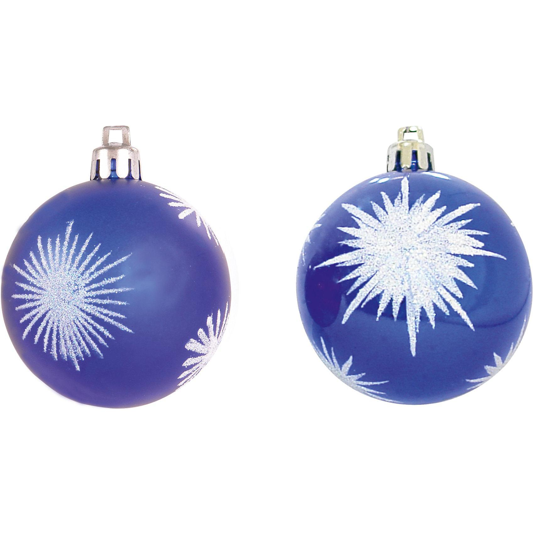 Шары с рисунком, 6 см, 6 шт., цвет - синийВсё для праздника<br>Шары с рисунком, Волшебная страна станут замечательным украшением для Вашей новогодней елки и помогут создать праздничную волшебную атмосферу. В комплекте шесть<br>синих шаров, украшенных снежинками, они будут чудесно смотреться на елке и радовать детей и взрослых. Шары упакованы в прозрачную коробочку из ПВХ.<br><br>Дополнительная информация:<br><br>- Цвет: синий.<br>- В комплекте: 6 шт.<br>- Диаметр шара: 6 см.<br>- Размер упаковки: 17,7 x 6 x 11,7 см.<br>- Вес: 87 гр.<br><br>Шары с рисунком, Волшебная страна, можно купить в нашем интернет-магазине.<br><br>Ширина мм: 370<br>Глубина мм: 60<br>Высота мм: 120<br>Вес г: 87<br>Возраст от месяцев: 60<br>Возраст до месяцев: 180<br>Пол: Унисекс<br>Возраст: Детский<br>SKU: 3791383